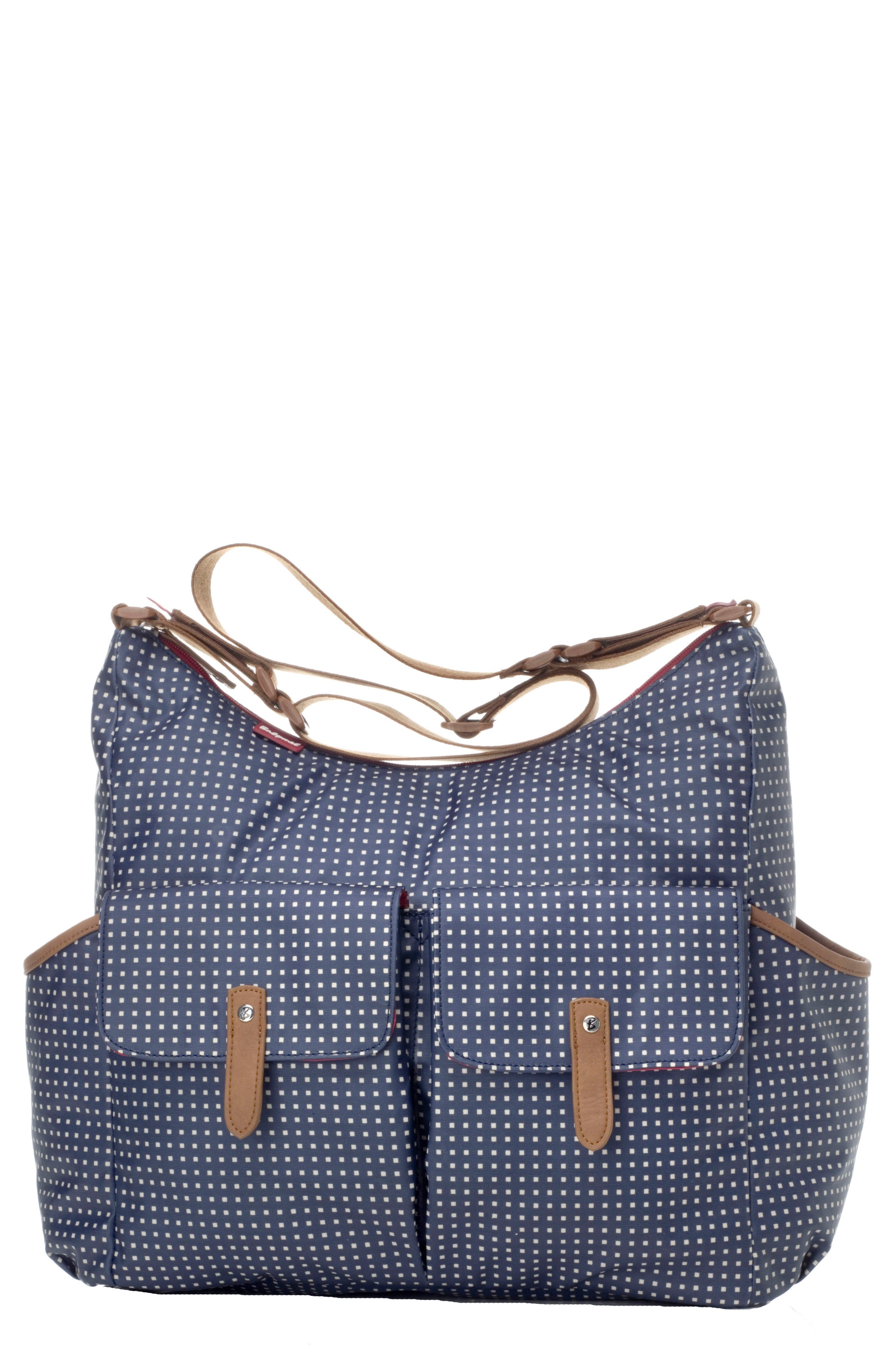 Frankie Diaper Bag,                         Main,                         color, Pixel Dot Navy
