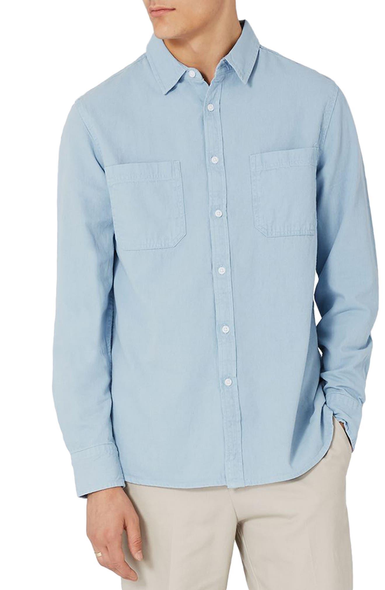 Alternate Image 2  - Topman Washed Twill Shirt