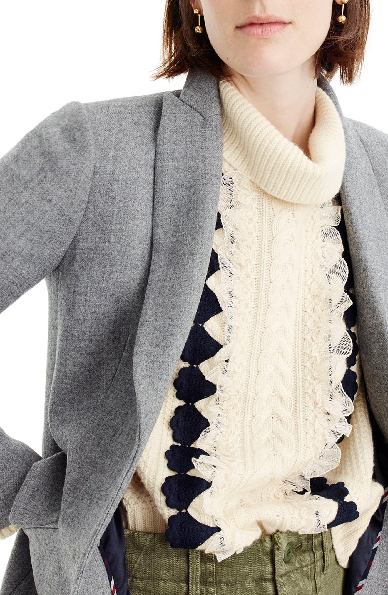 Alternate Image 4  - J.Crew Eniko Wool Topcoat