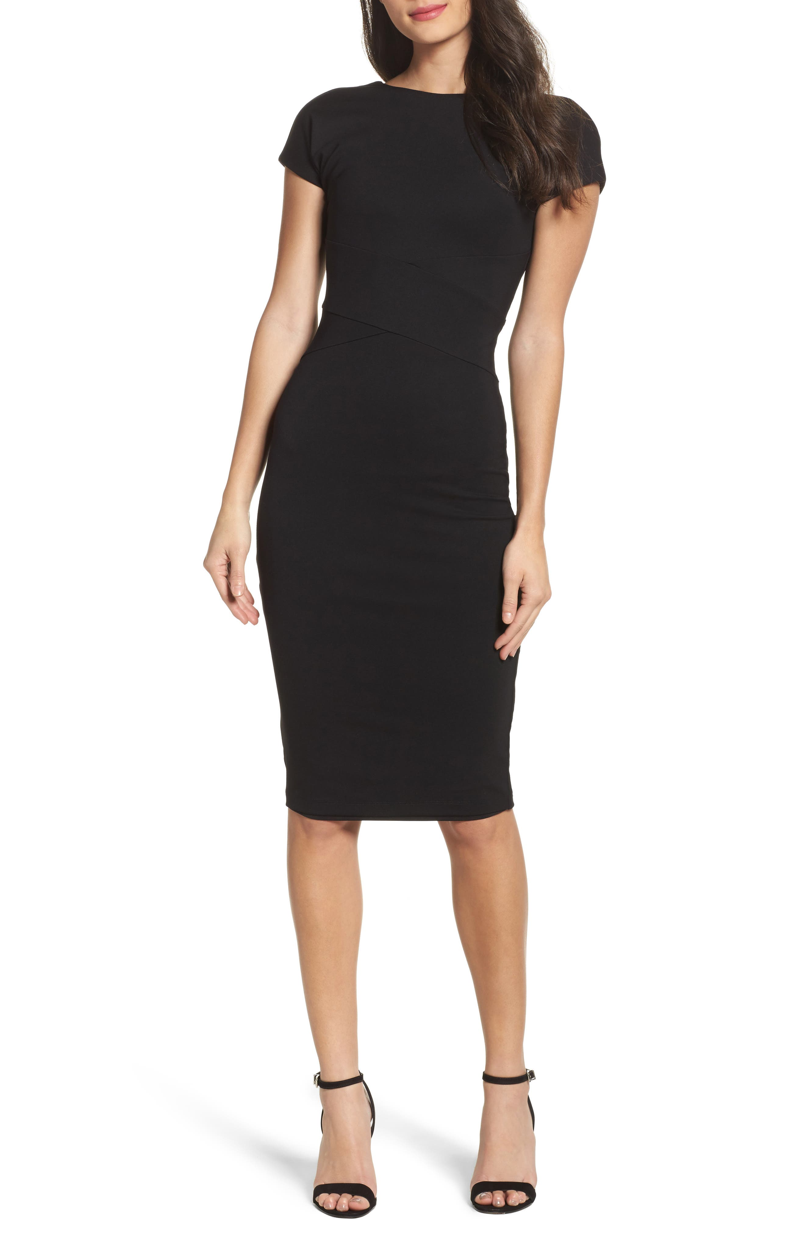 Ali & Jay Champs Élysées Ponte Knit Sheath Dress