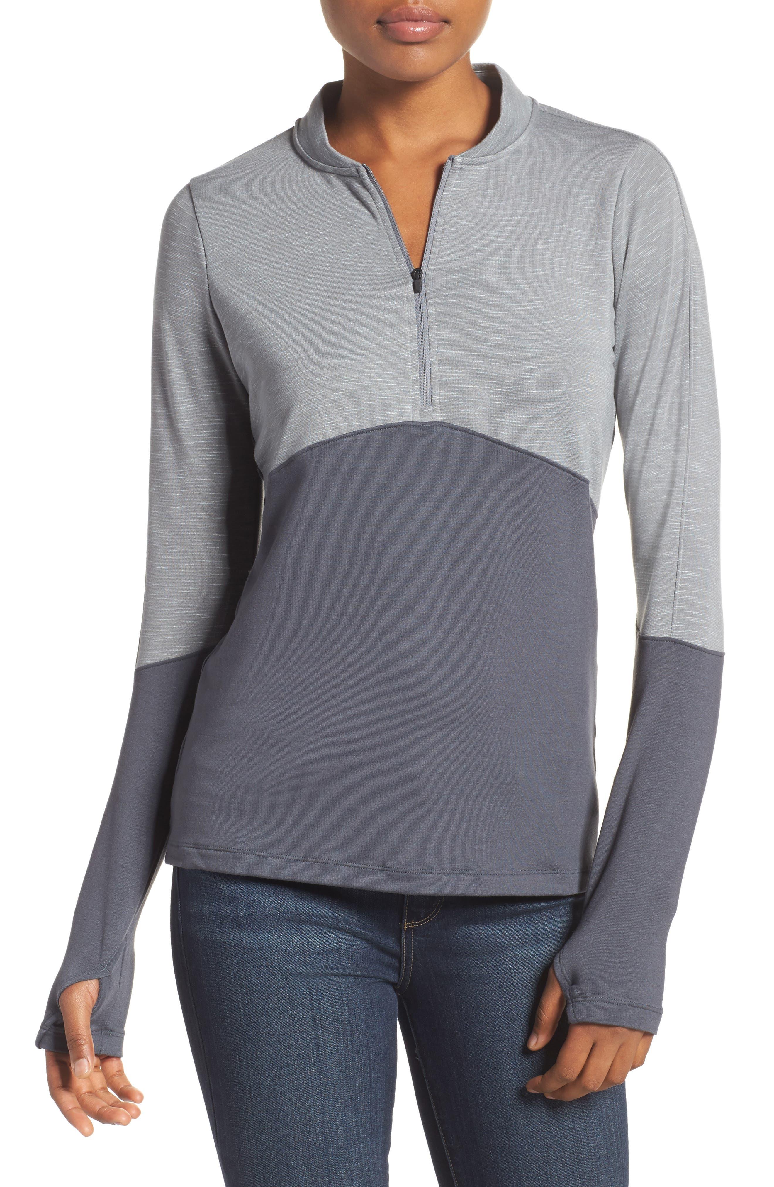 Threadborne Pullover,                         Main,                         color, Overcast Grey/ Lead/ Lead