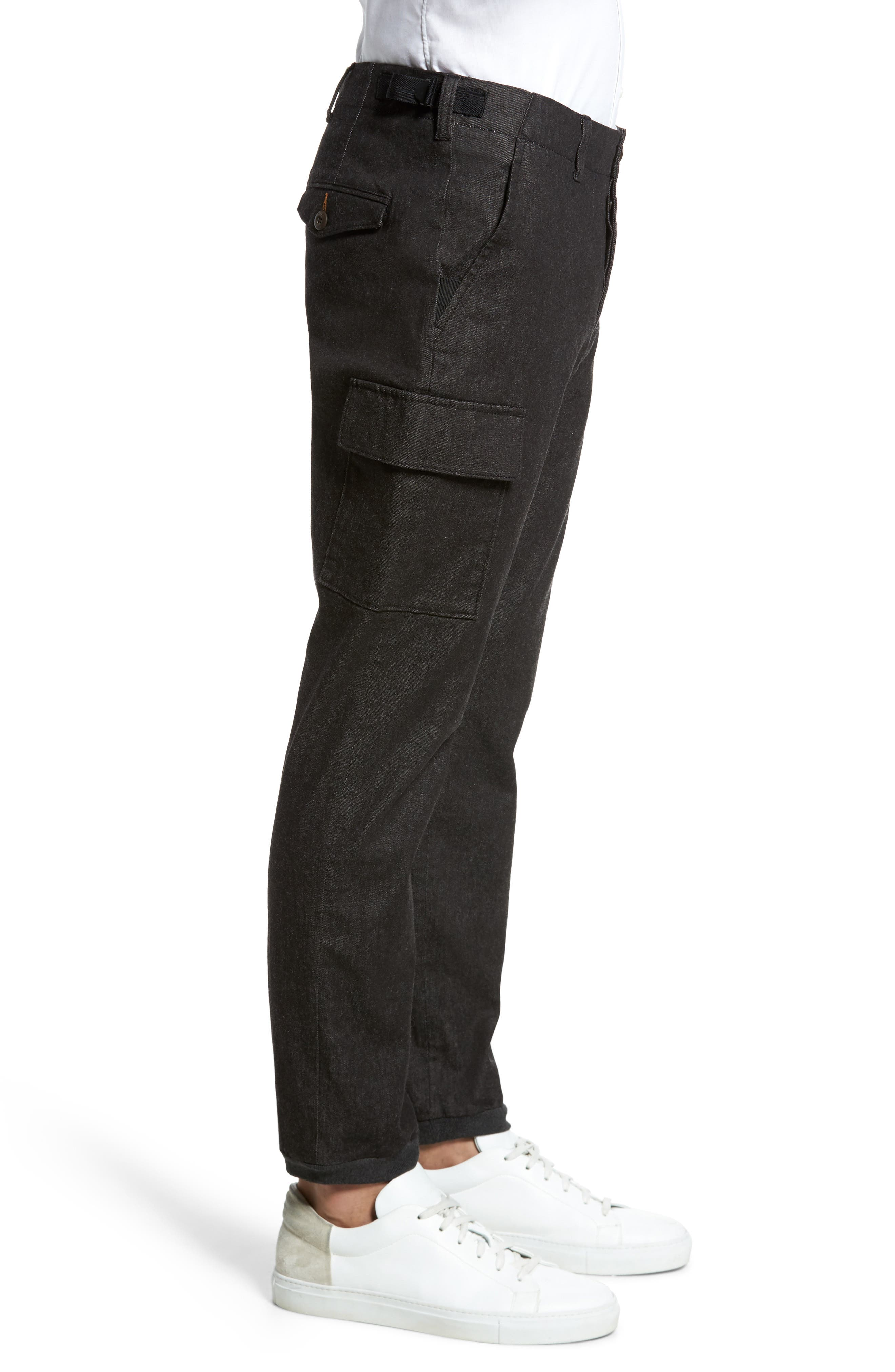 Brushed Stretch Twill Pants,                             Alternate thumbnail 3, color,                             Charcoal Mel