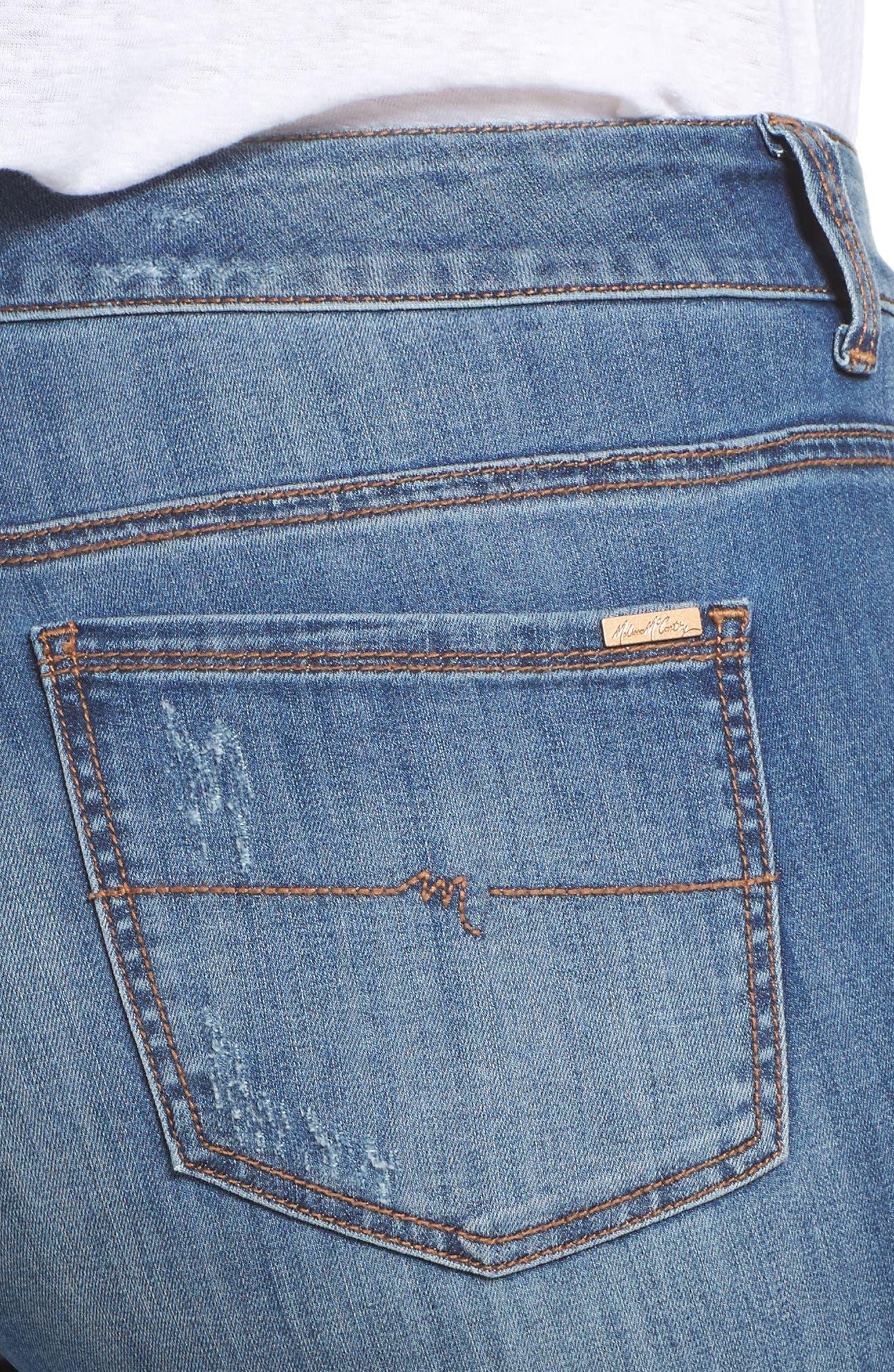 Alternate Image 4  - Melissa McCarthy Seven7 Jeweled Skinny Jeans (Heiress) (Plus Size)