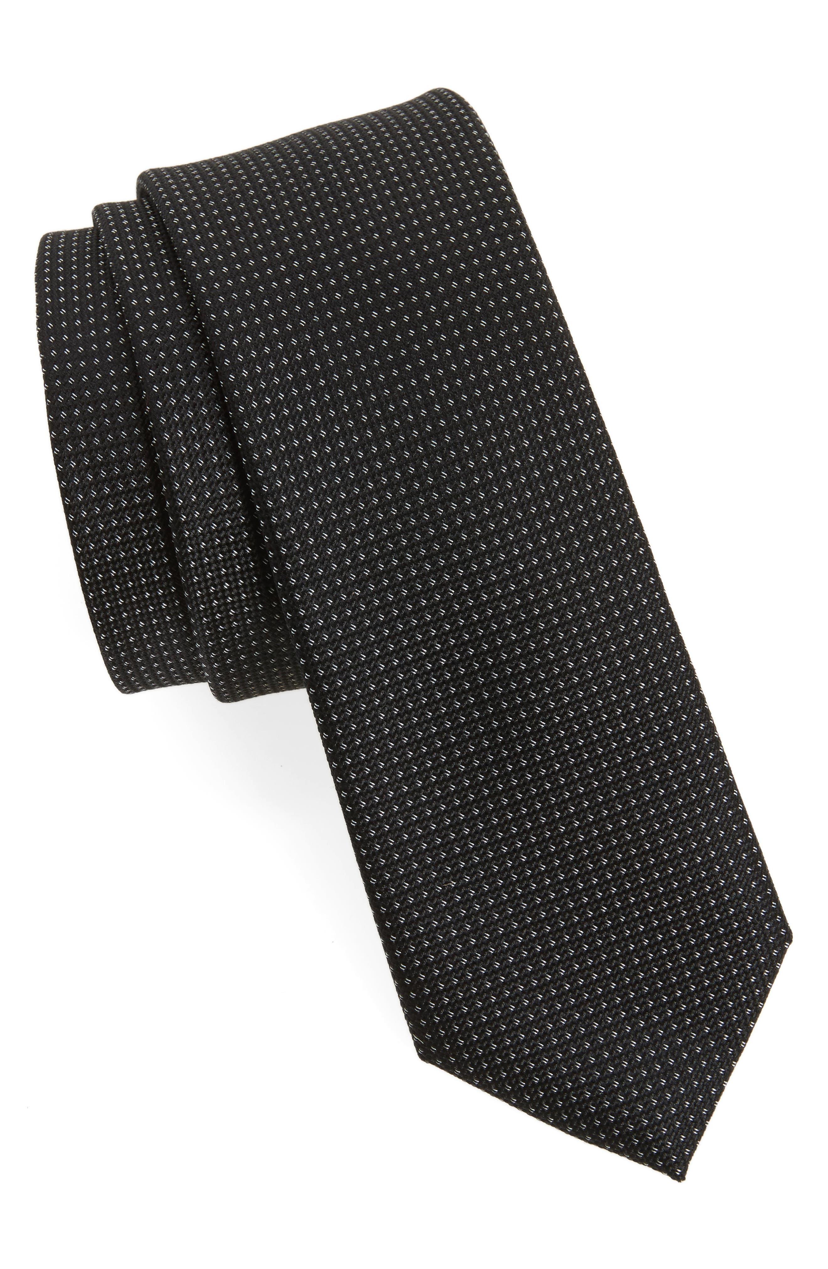 Main Image - Calibrate Black & White Silk Tie