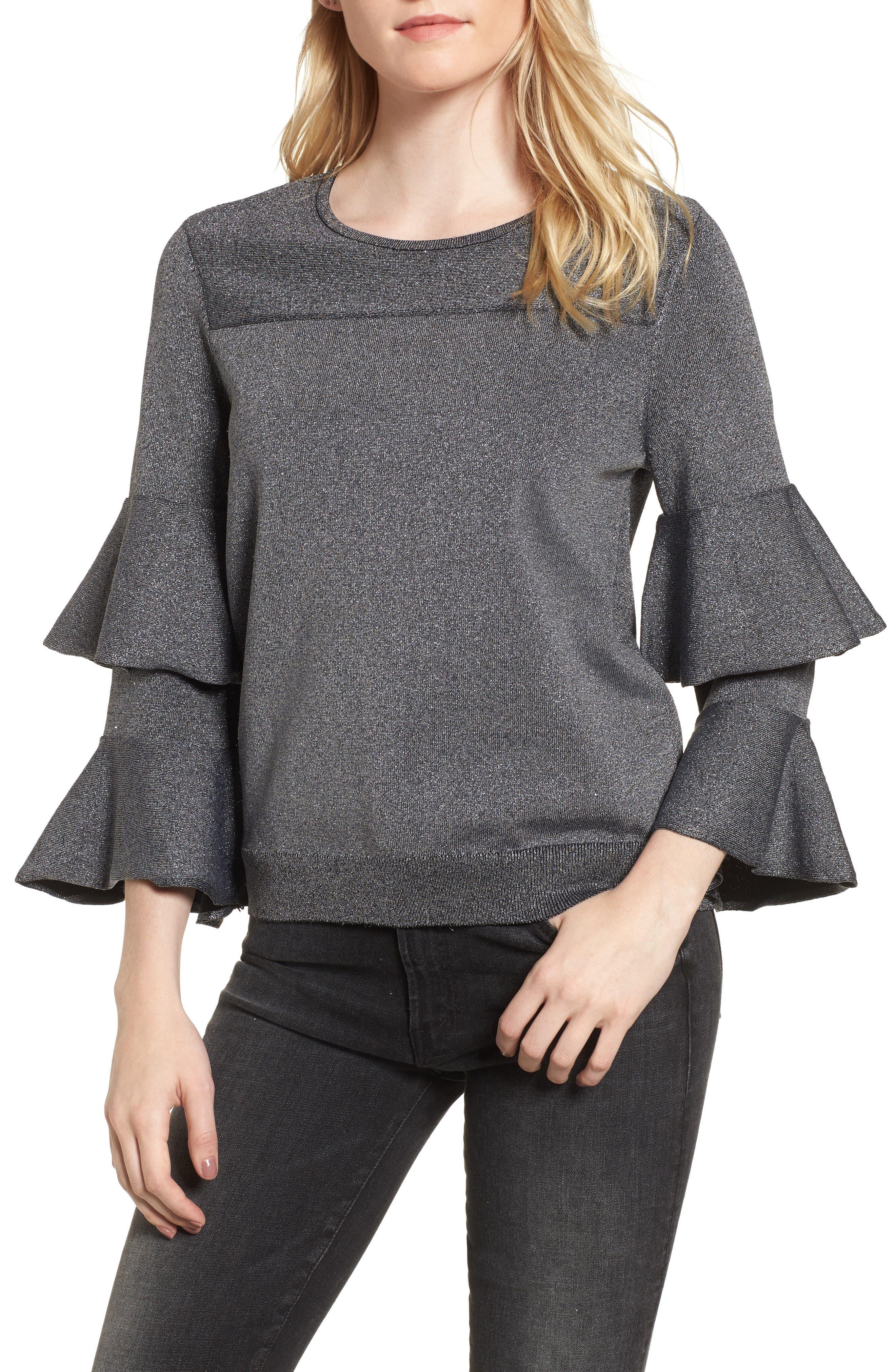 Alternate Image 1 Selected - Parker Jayla Ruffle Sleeve Sweater