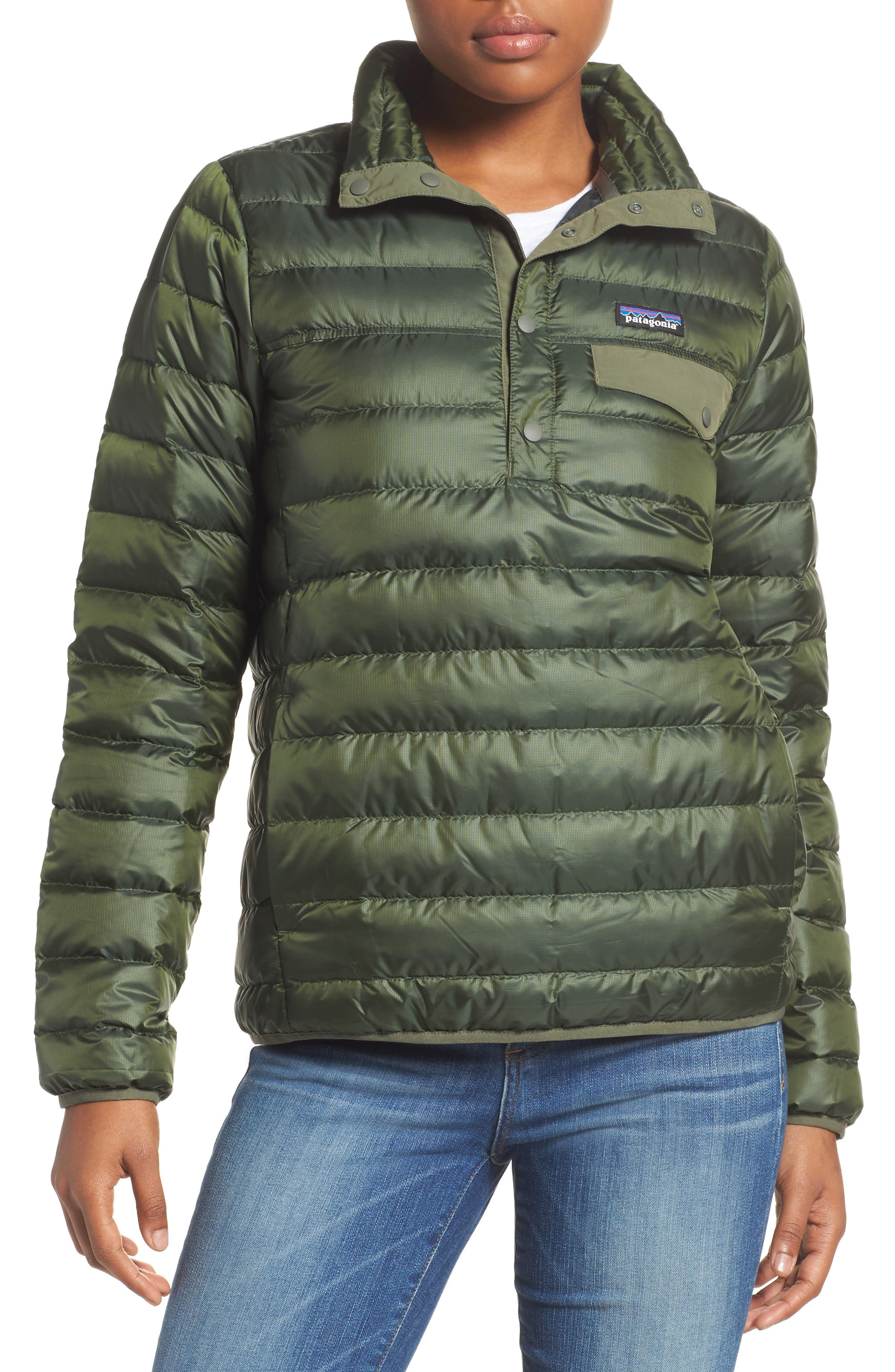 Snap-T<sup>®</sup> Down Pullover,                         Main,                         color, Carbon