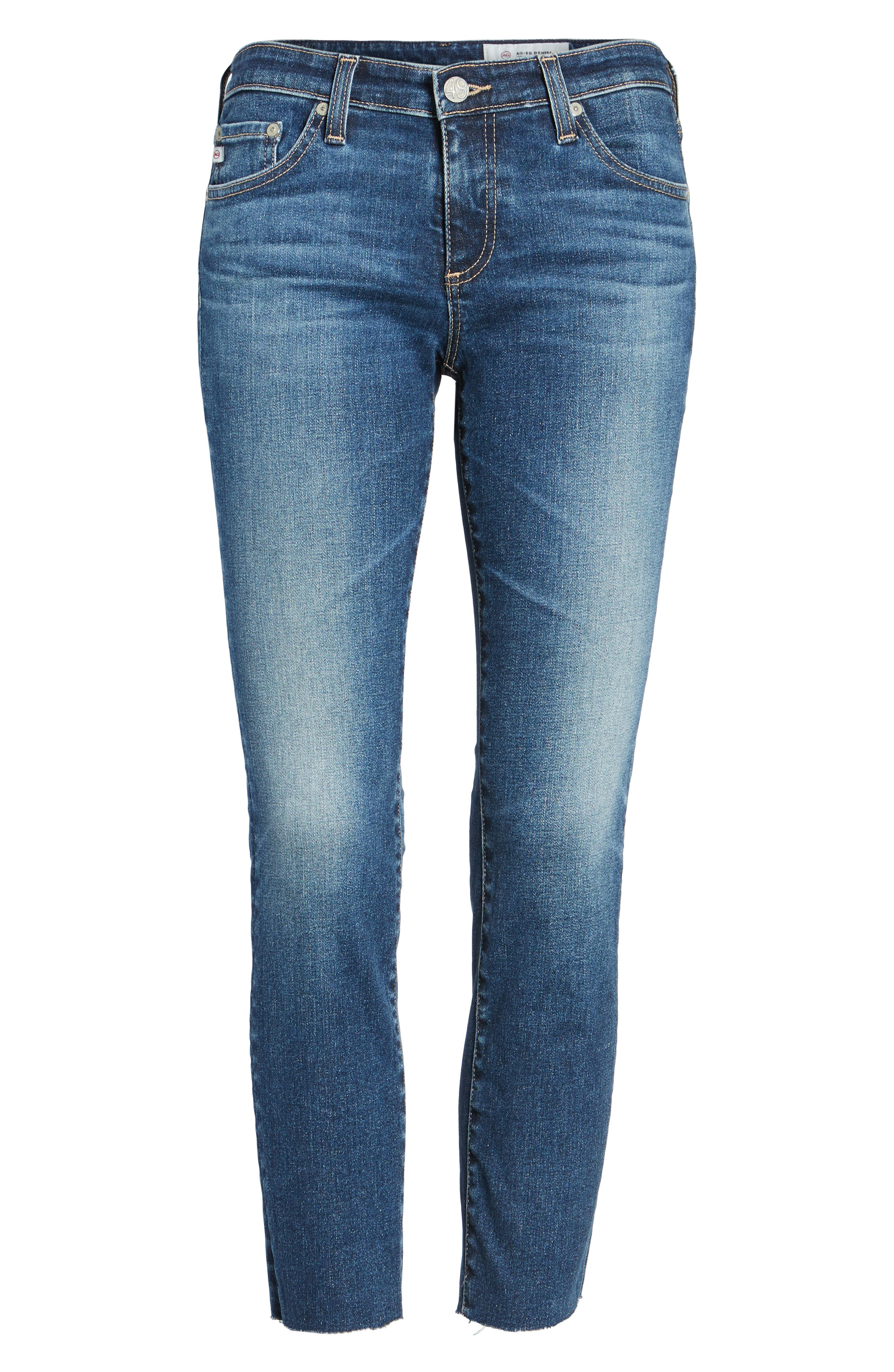 The Stilt Crop Skinny Jeans,                             Alternate thumbnail 7, color,                             5 Years Indigo Avenue