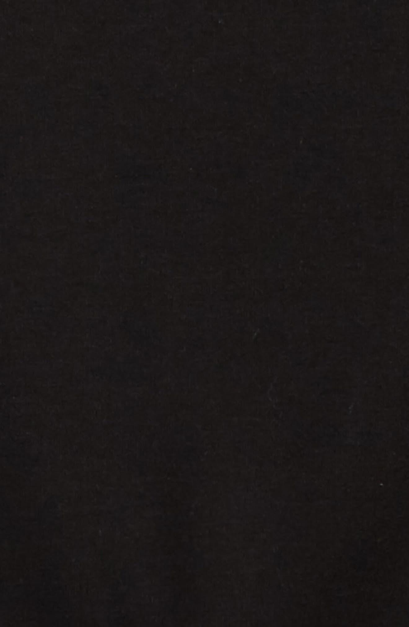 Contrast Sleeve Sweatshirt,                             Alternate thumbnail 3, color,                             Black