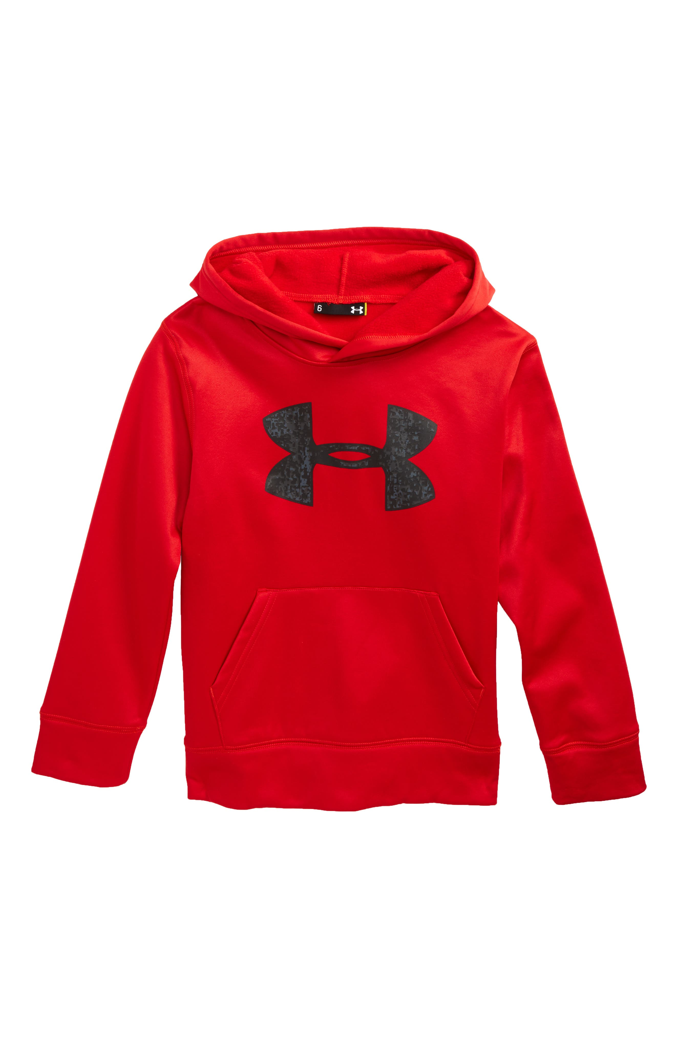 Digital City Logo Pullover Hoodie,                             Main thumbnail 1, color,                             Red