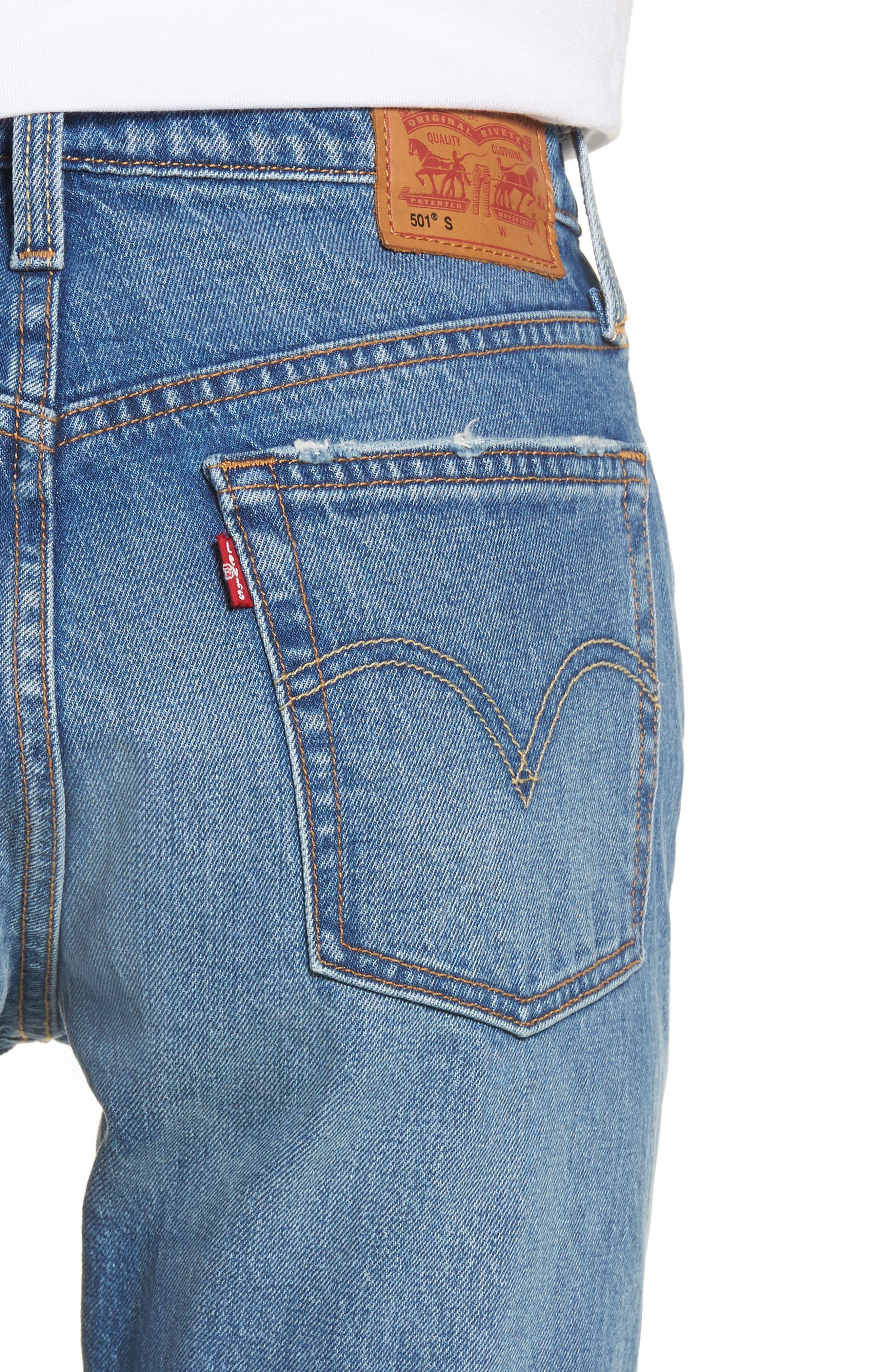 Alternate Image 4  - Levi's® 501 High Waist Skinny Jeans (Leave a Trace)