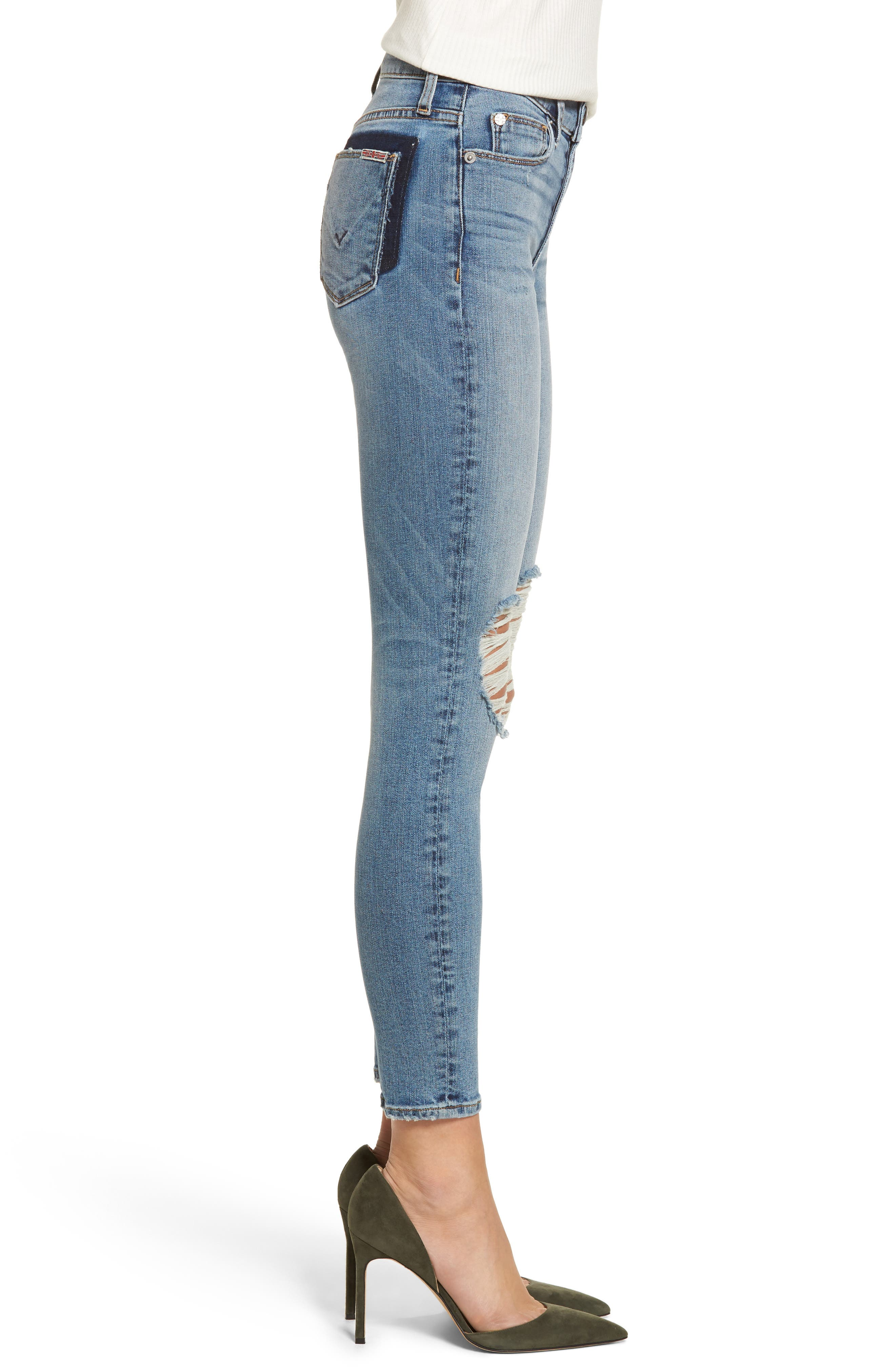 Barbara High Waist Ankle Skinny Jeans,                             Alternate thumbnail 3, color,                             Confection