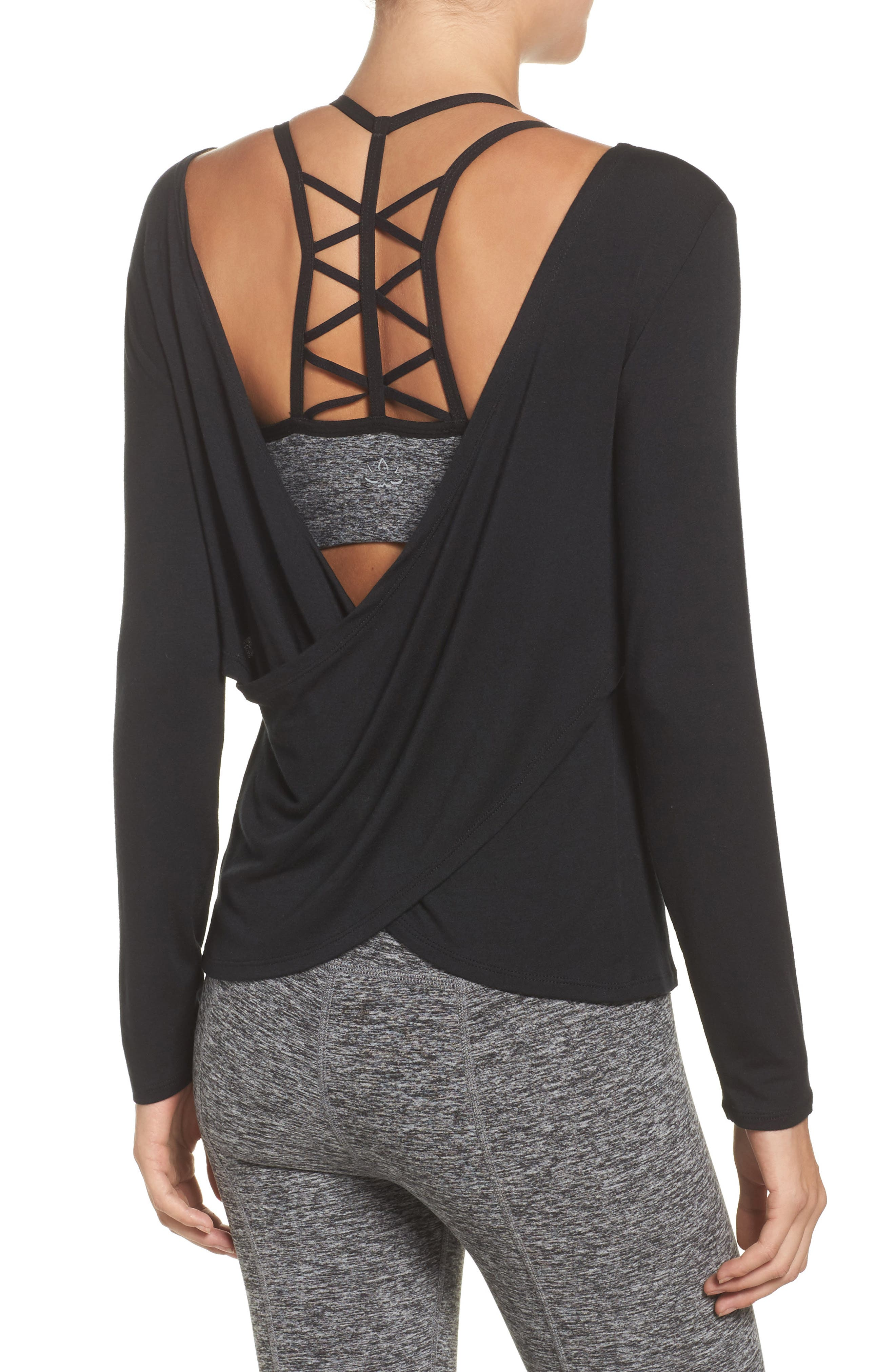 Twist of Fate Pullover,                             Alternate thumbnail 2, color,                             Black