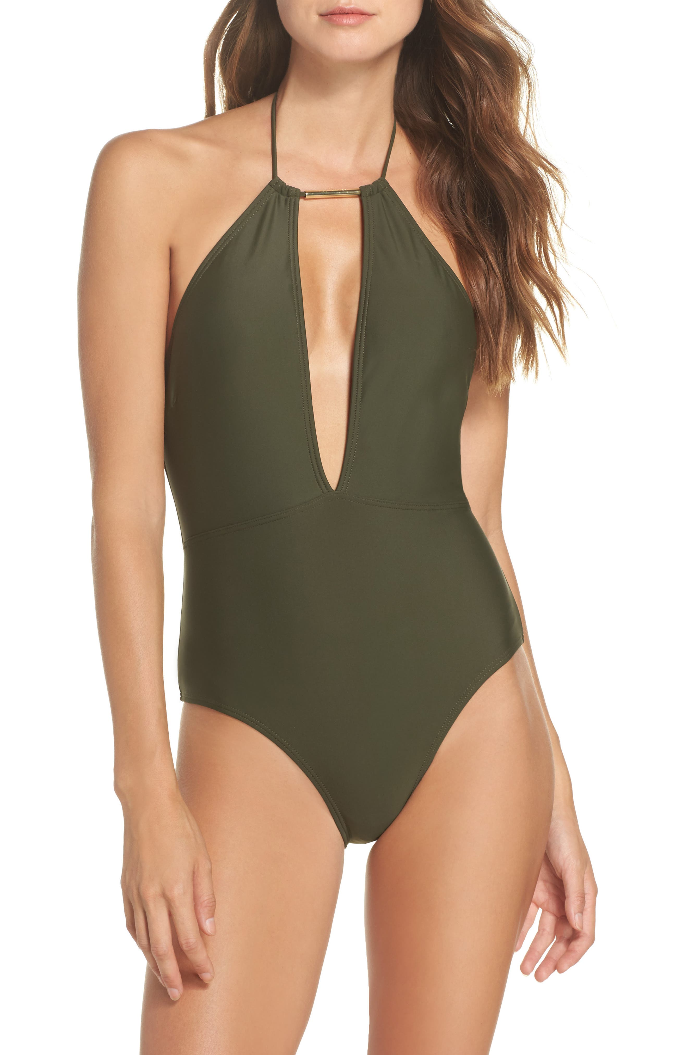 Main Image - Ted Baker London Halter One-Piece Swimsuit
