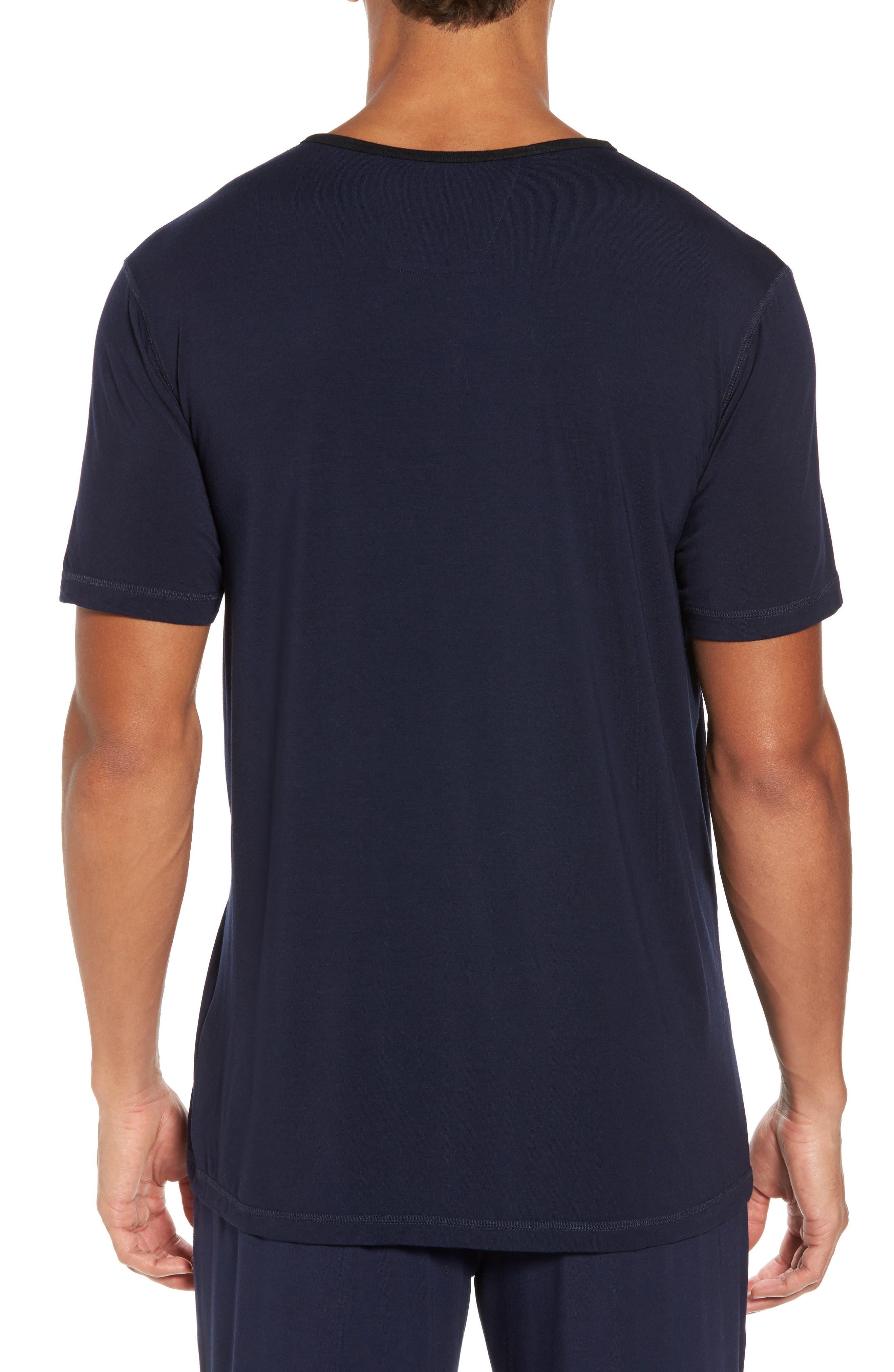 Modal Blend Henley T-shirt,                             Alternate thumbnail 2, color,                             Ink