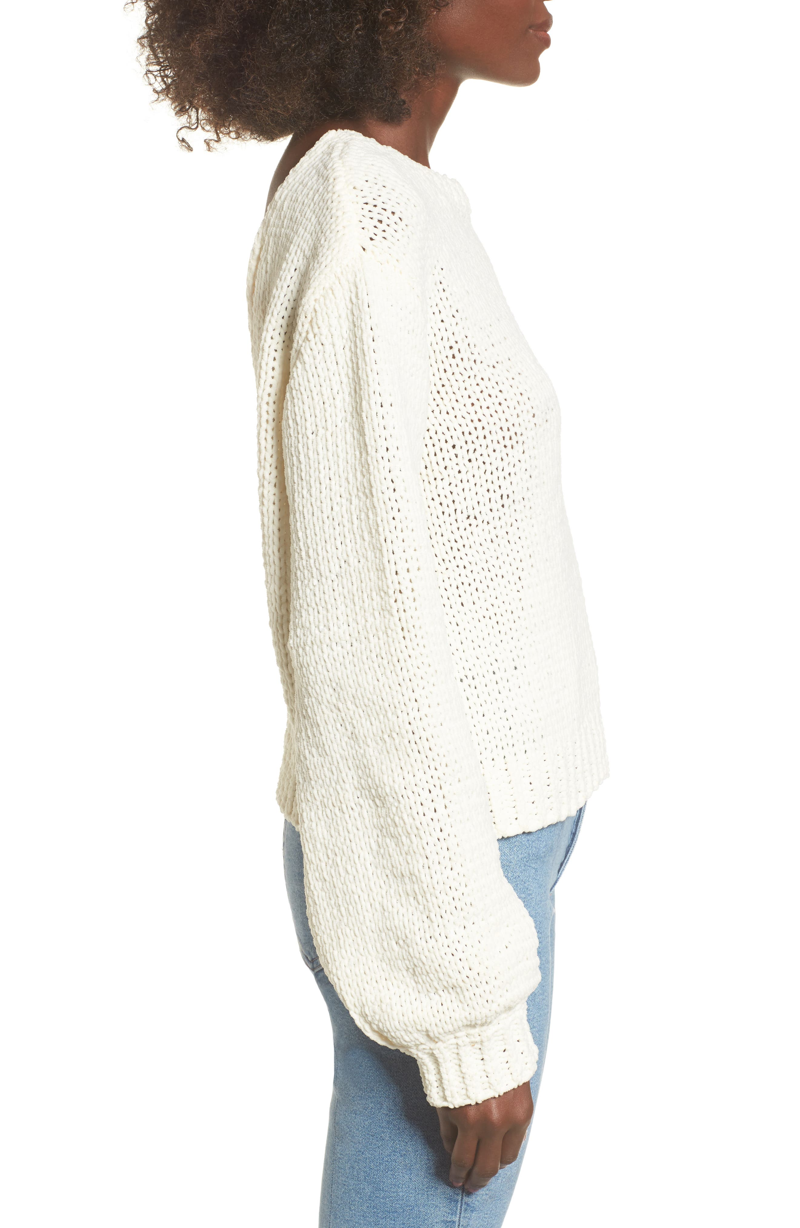 Strappy Sweater,                             Alternate thumbnail 4, color,                             Ivory