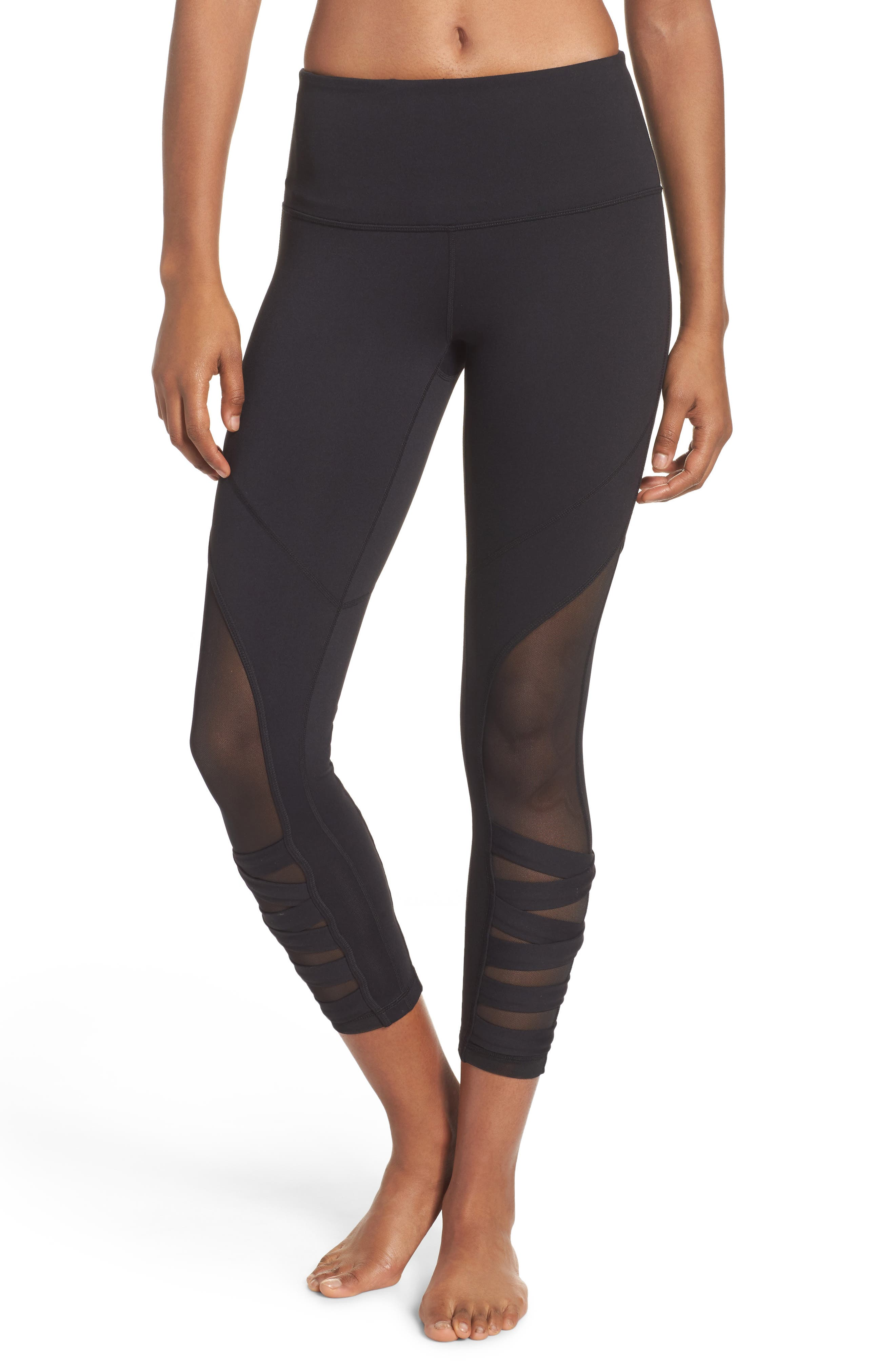 Covet High Waist Midi Leggings,                         Main,                         color, Black