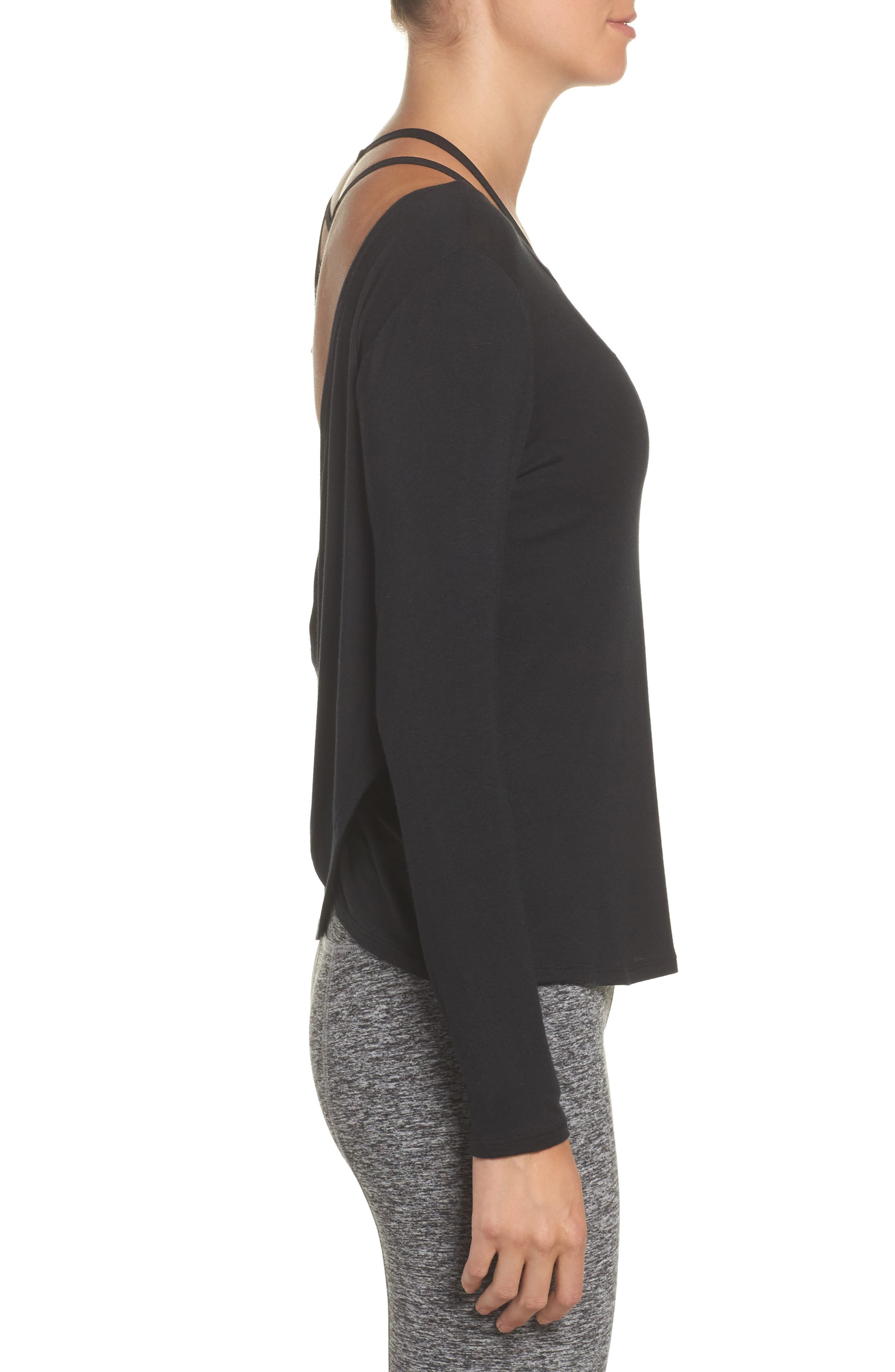 Twist of Fate Pullover,                             Alternate thumbnail 3, color,                             Black