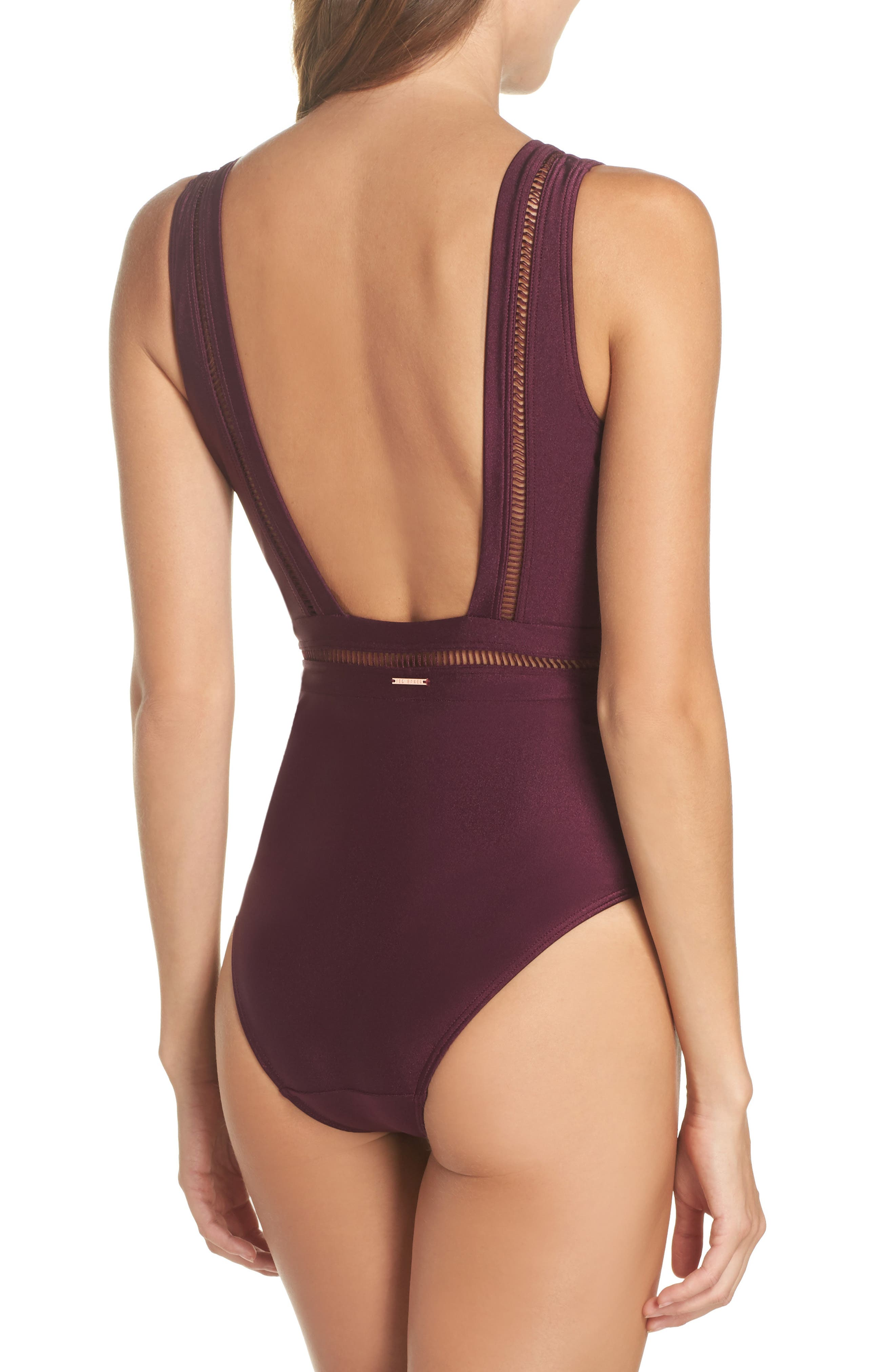 Alternate Image 2  - Ted Baker London Plunge One Piece Swimsuit