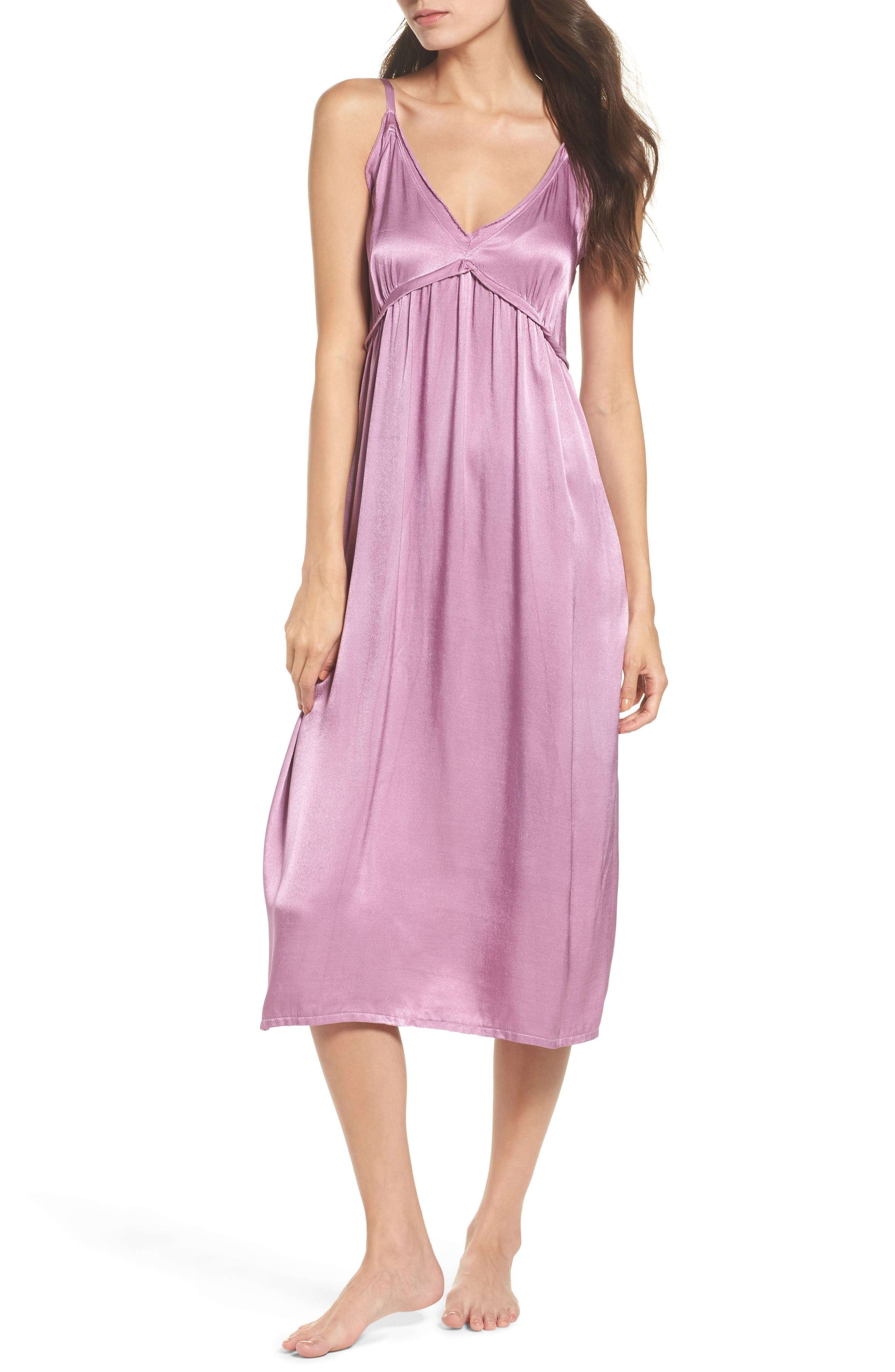 Marigold Satin Nightgown,                         Main,                         color, Haze