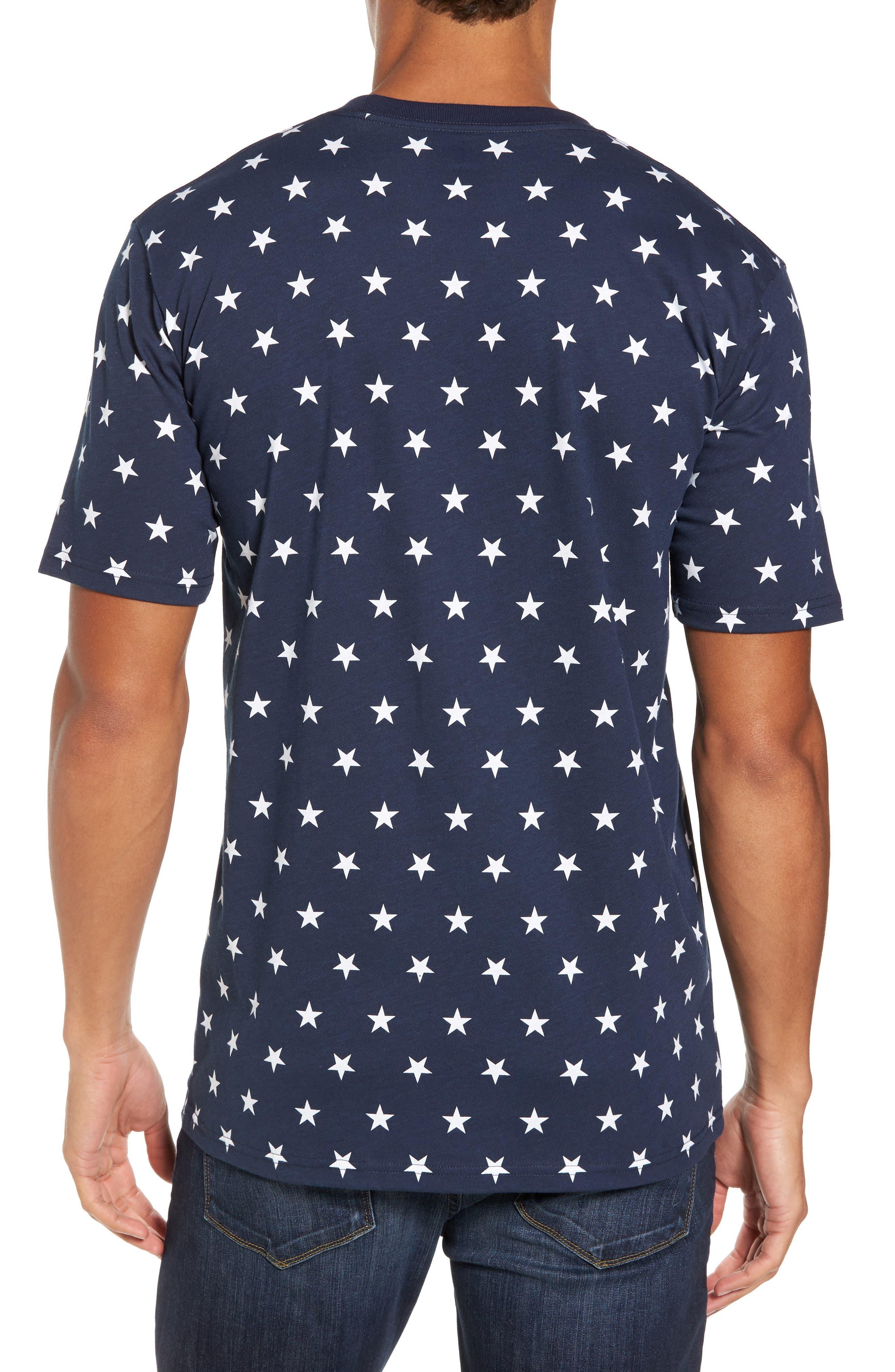 International Collection Star Print T-Shirt,                             Alternate thumbnail 2, color,                             Cosmic Blue Star Print