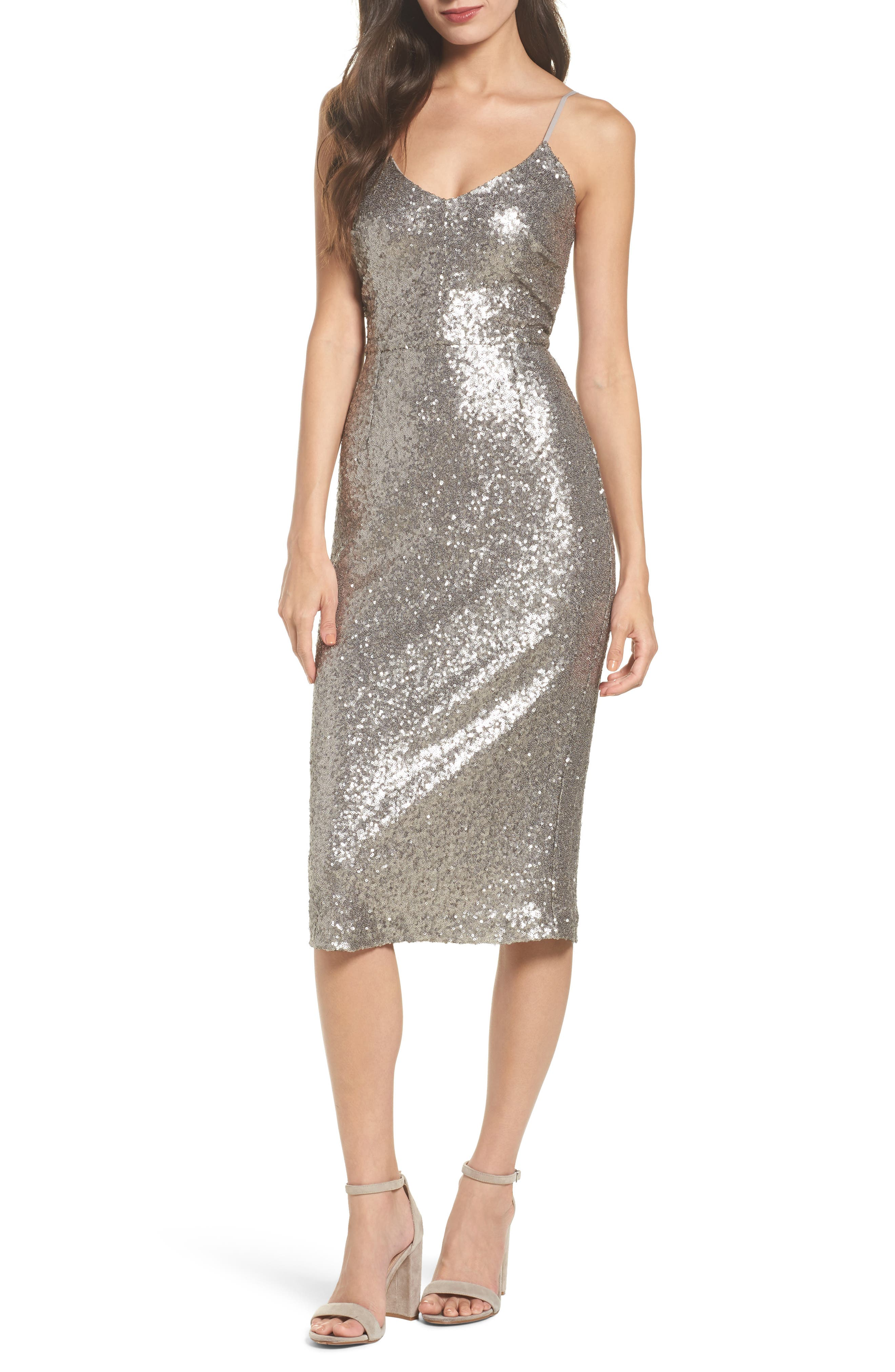 Midnight Lucky Sequin Dress,                             Main thumbnail 1, color,                             Sequin