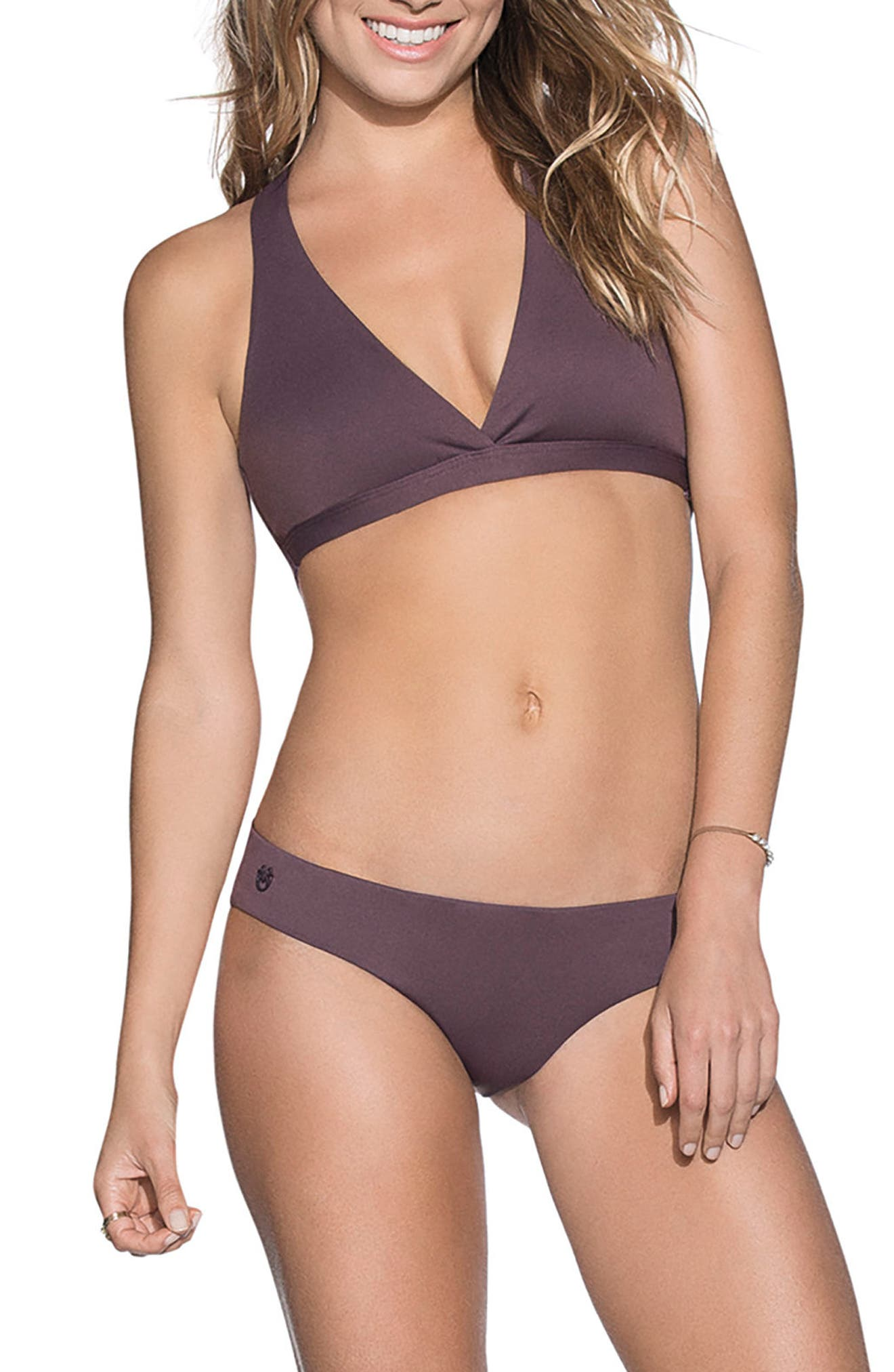 Fig Swirl Reversible Bikini Top,                             Alternate thumbnail 4, color,                             Dark Purple