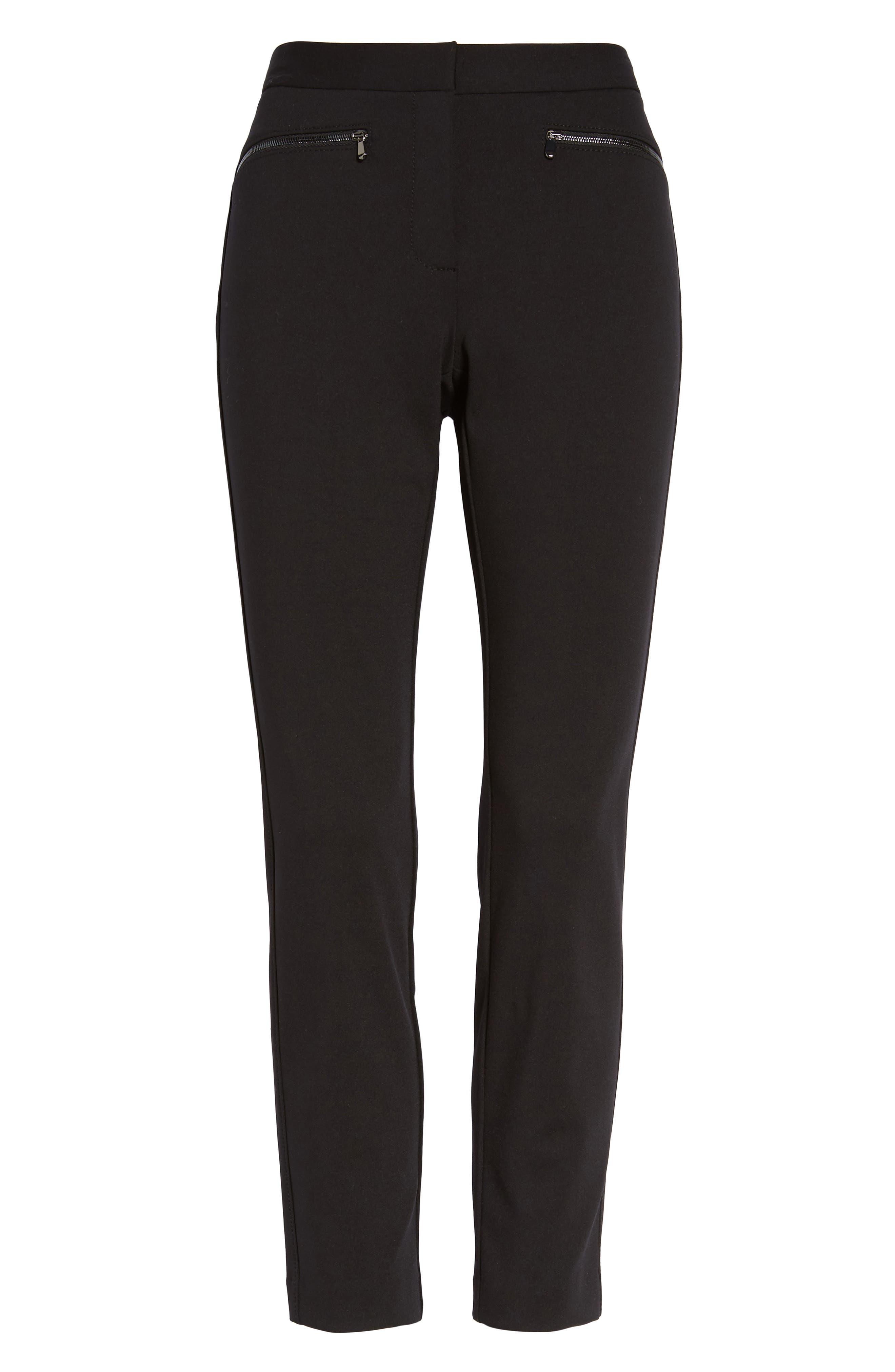 Alternate Image 6  - Nordstrom Signature Exposed Zip Knit Pants