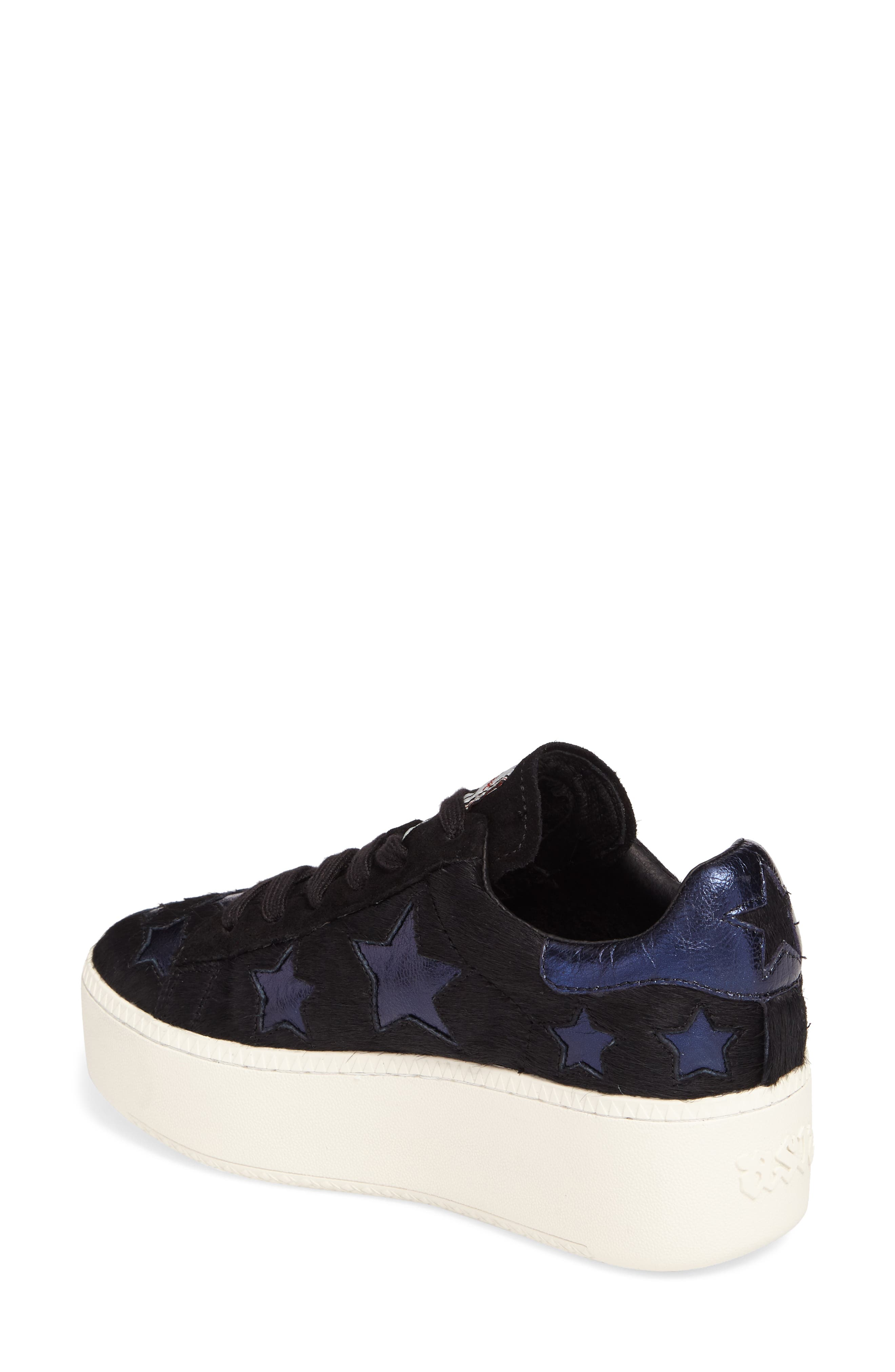 Cult Star Calf Hair Sneaker,                             Alternate thumbnail 2, color,                             Black/ Midnight Leather