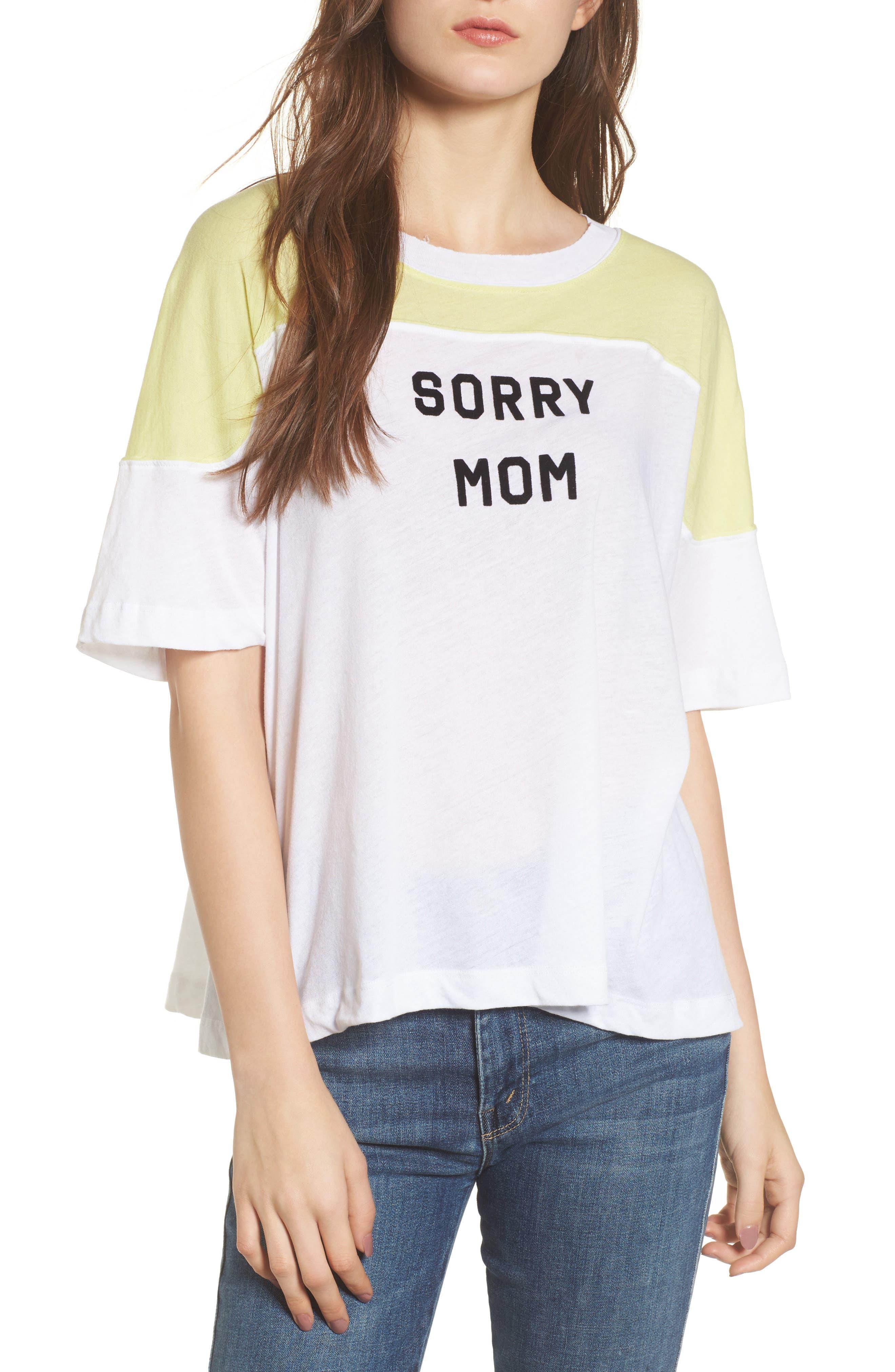 Sorry Mom Samuel Tee,                             Main thumbnail 1, color,                             Clean White