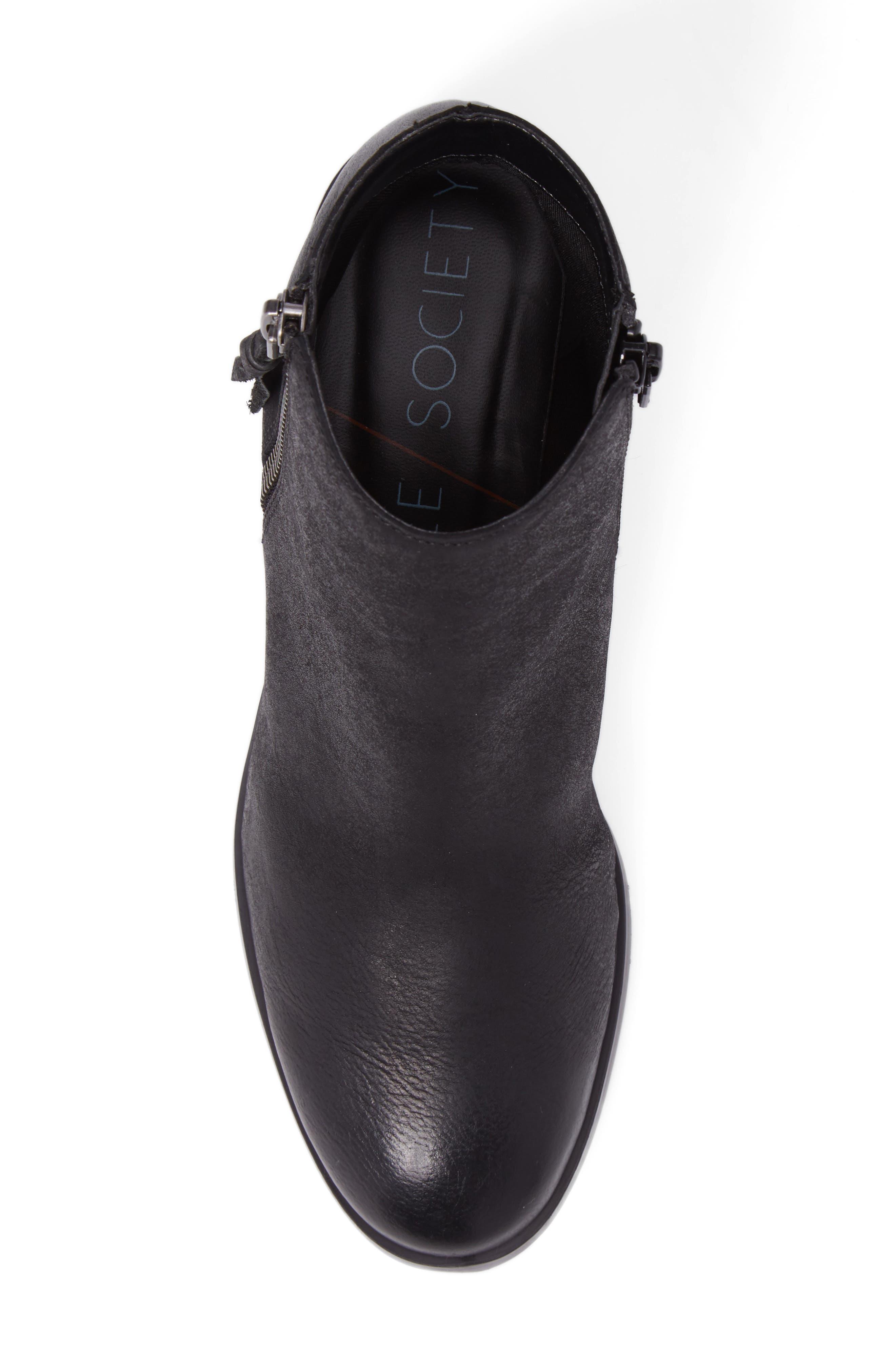 Abbott Bootie,                             Alternate thumbnail 5, color,                             Black Leather