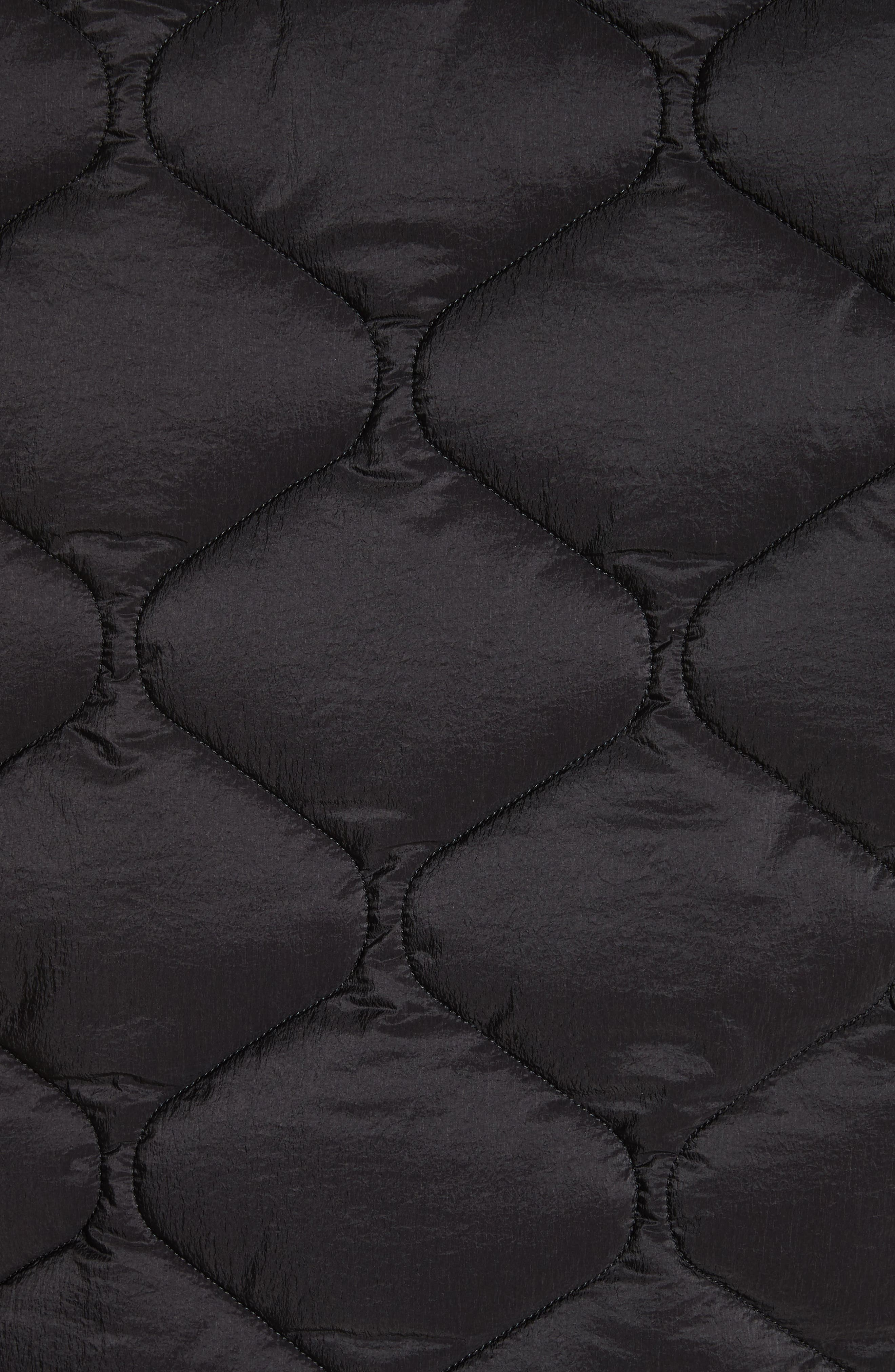 Quilted Liner Parachute Jacket,                             Alternate thumbnail 5, color,                             Black
