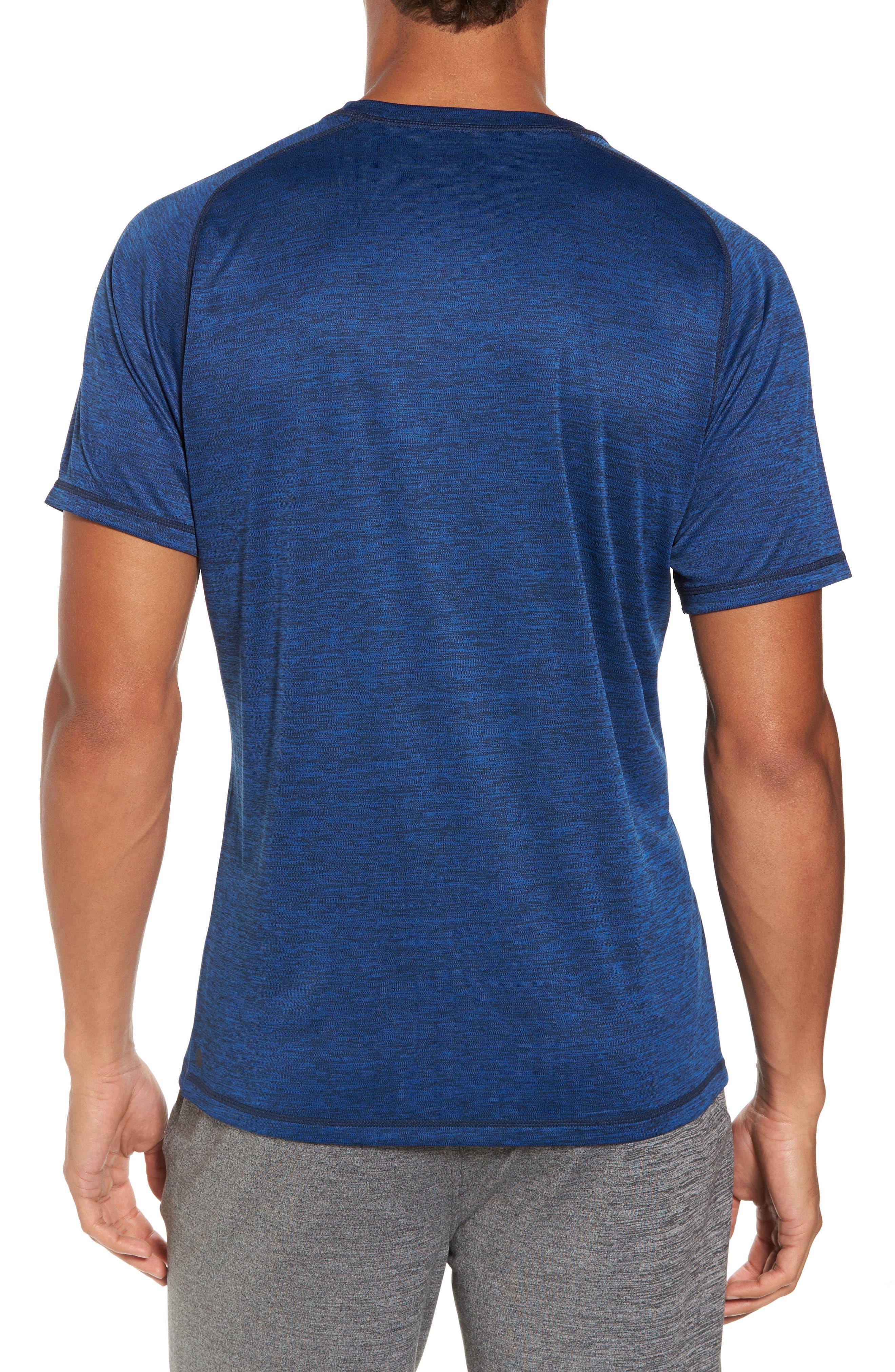 Triplite T-Shirt,                             Alternate thumbnail 2, color,                             Navy Malachite Melange