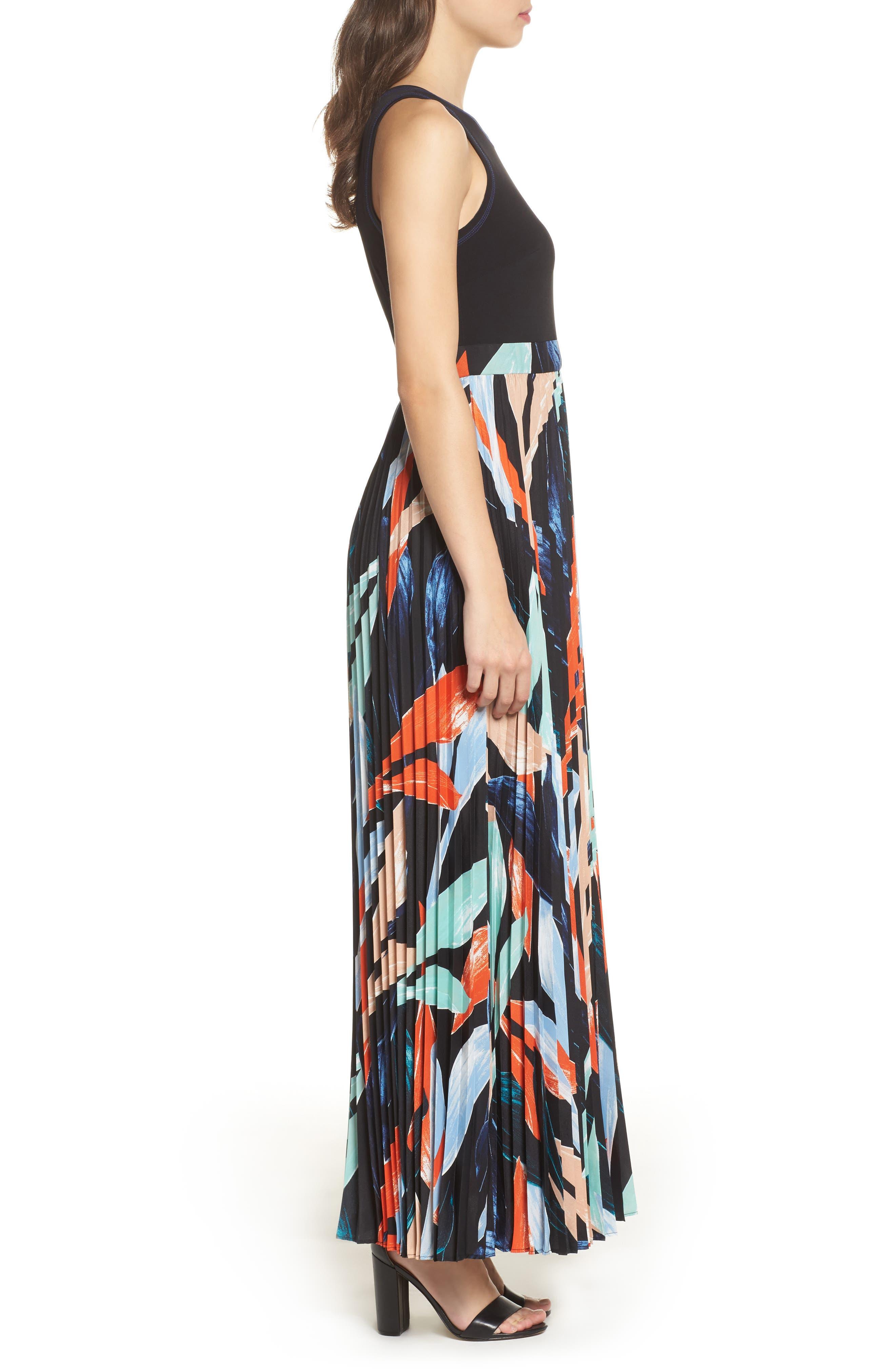 Alternate Image 4  - Vince Camuto Pleated Maxi Dress (Regular & Petite)