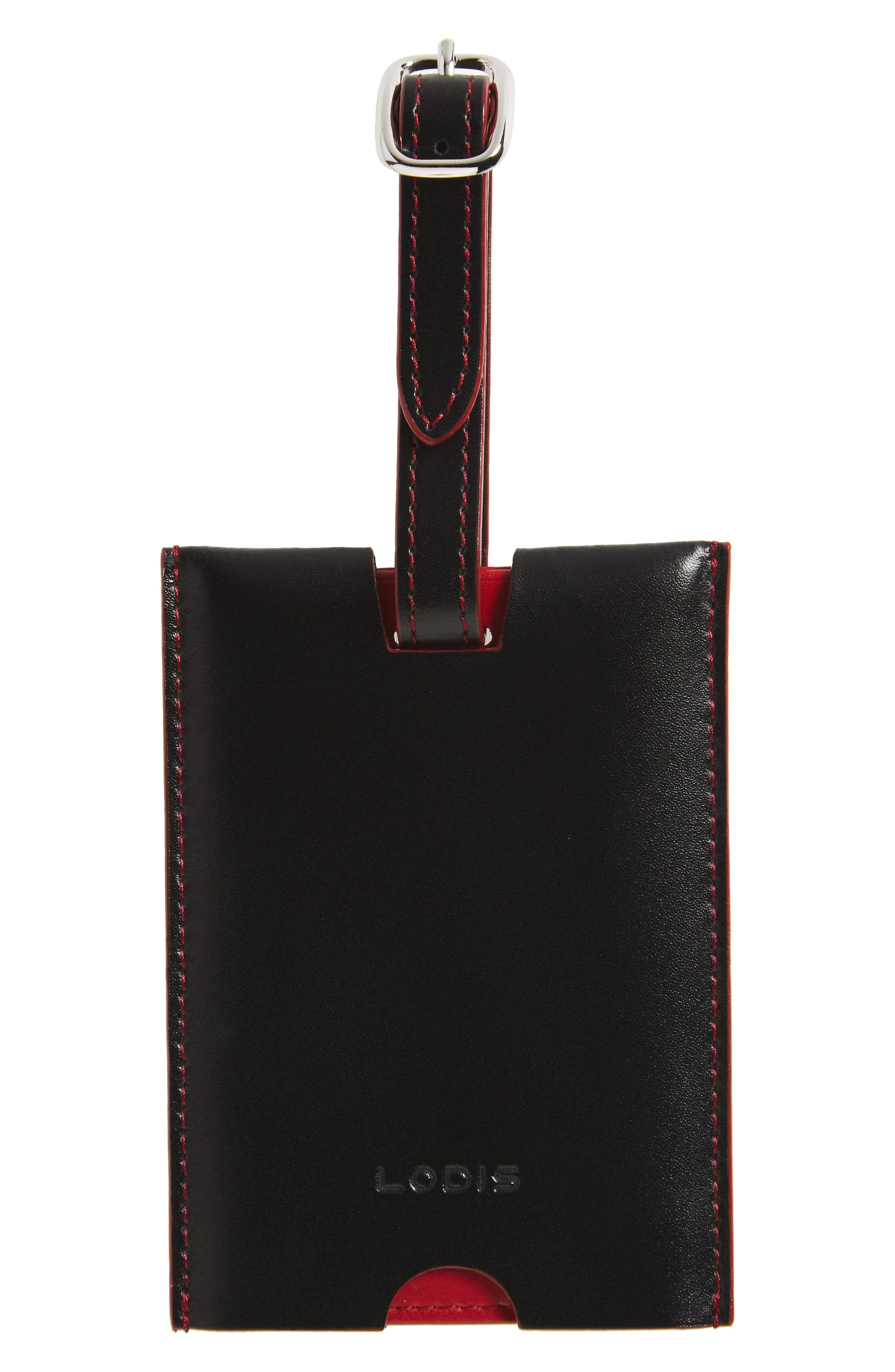 Alternate Image 1 Selected - LODIS Audrey Rene Leather Luggage Tag