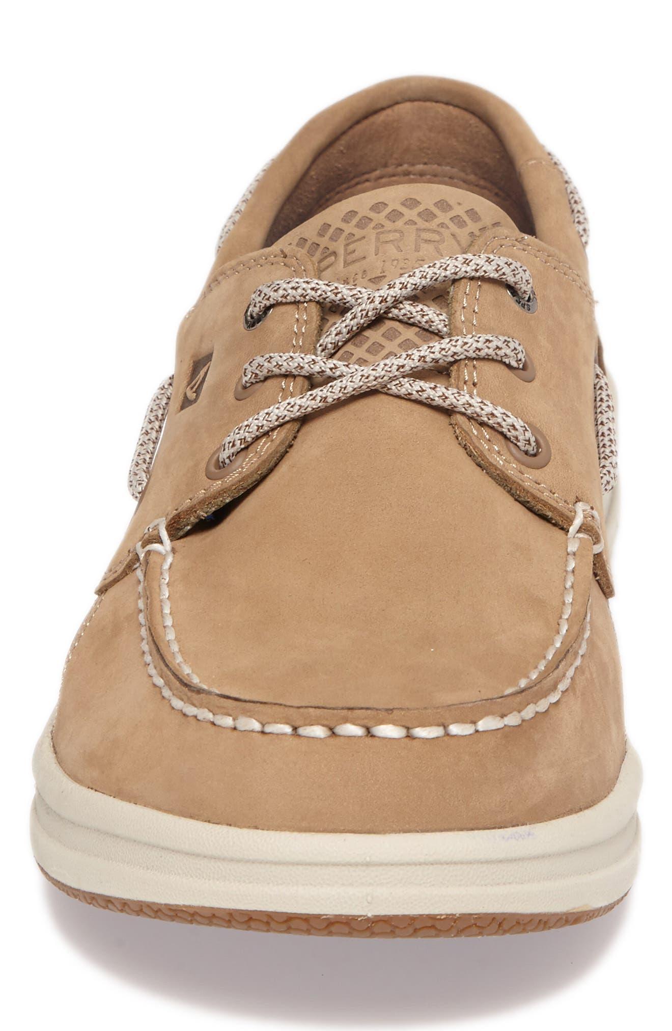 Gamefish Boat Shoe,                             Alternate thumbnail 4, color,                             Linen Leather