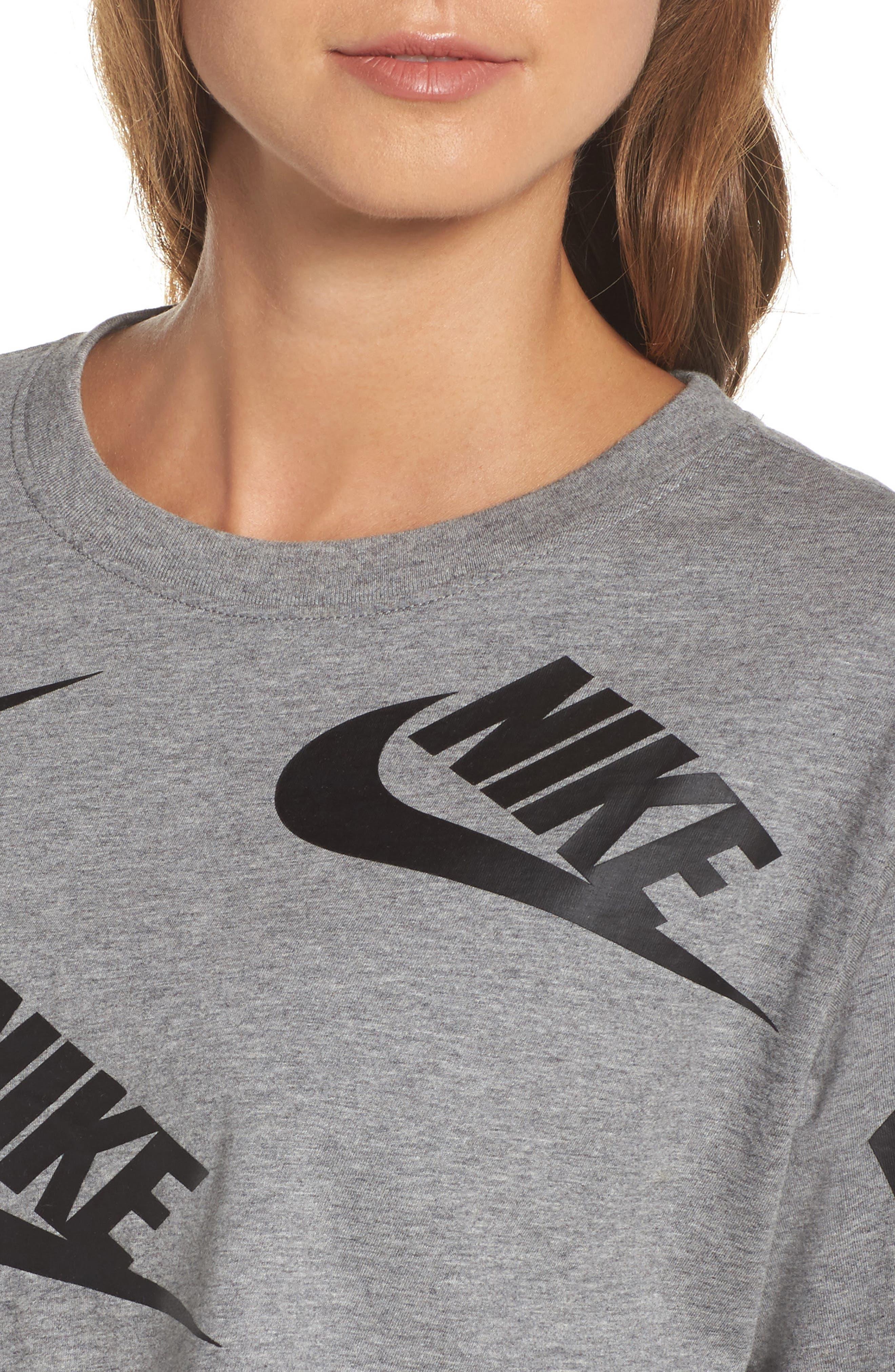 Alternate Image 4  - Nike Sportswear Futura Crop Tee