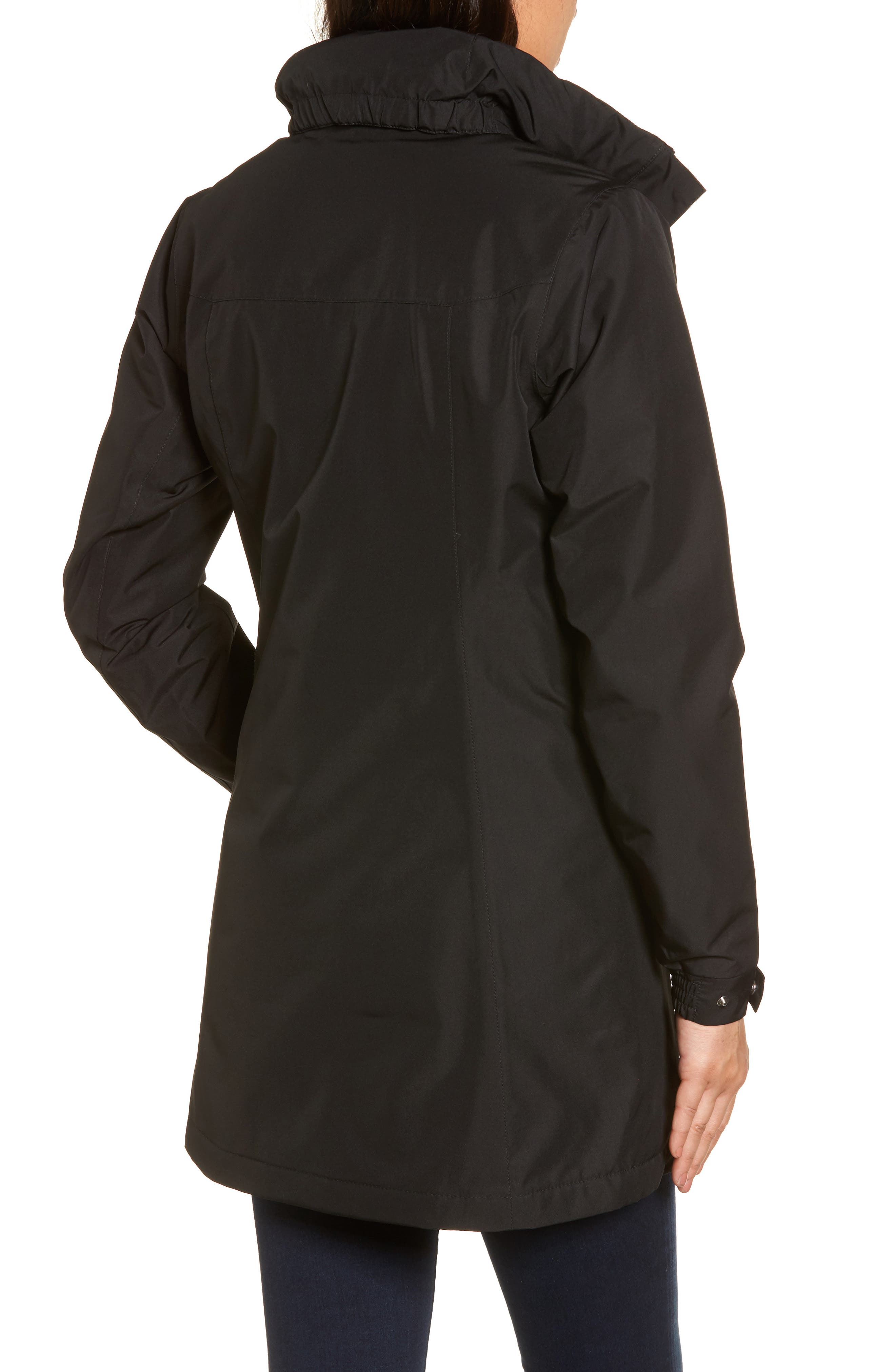 Aden Hooded Insulated Rain Jacket,                             Alternate thumbnail 2, color,                             Black