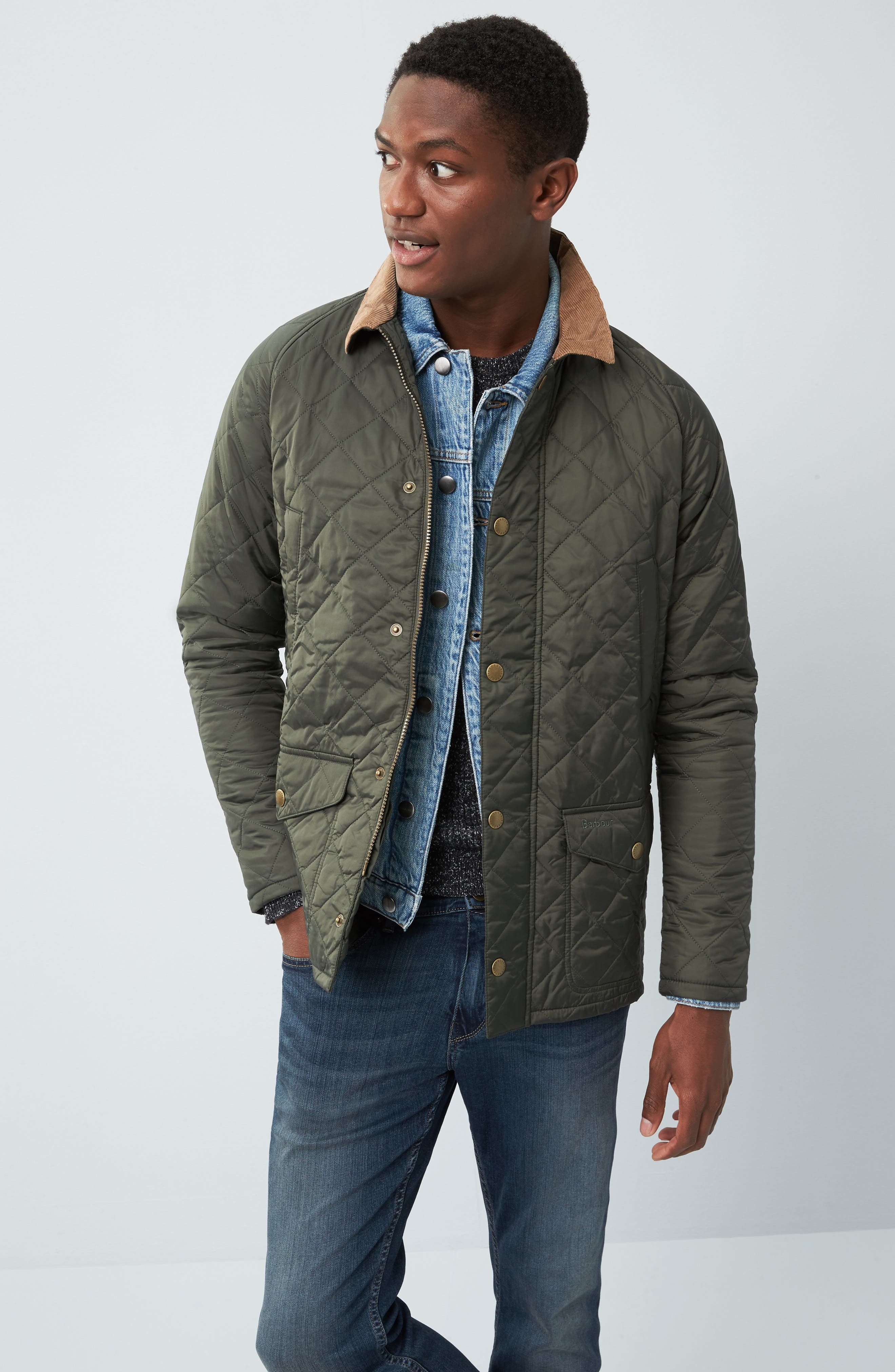 Alternate Image 7  - Barbour 'Canterdale' Slim Fit Water-Resistant Diamond Quilted Jacket