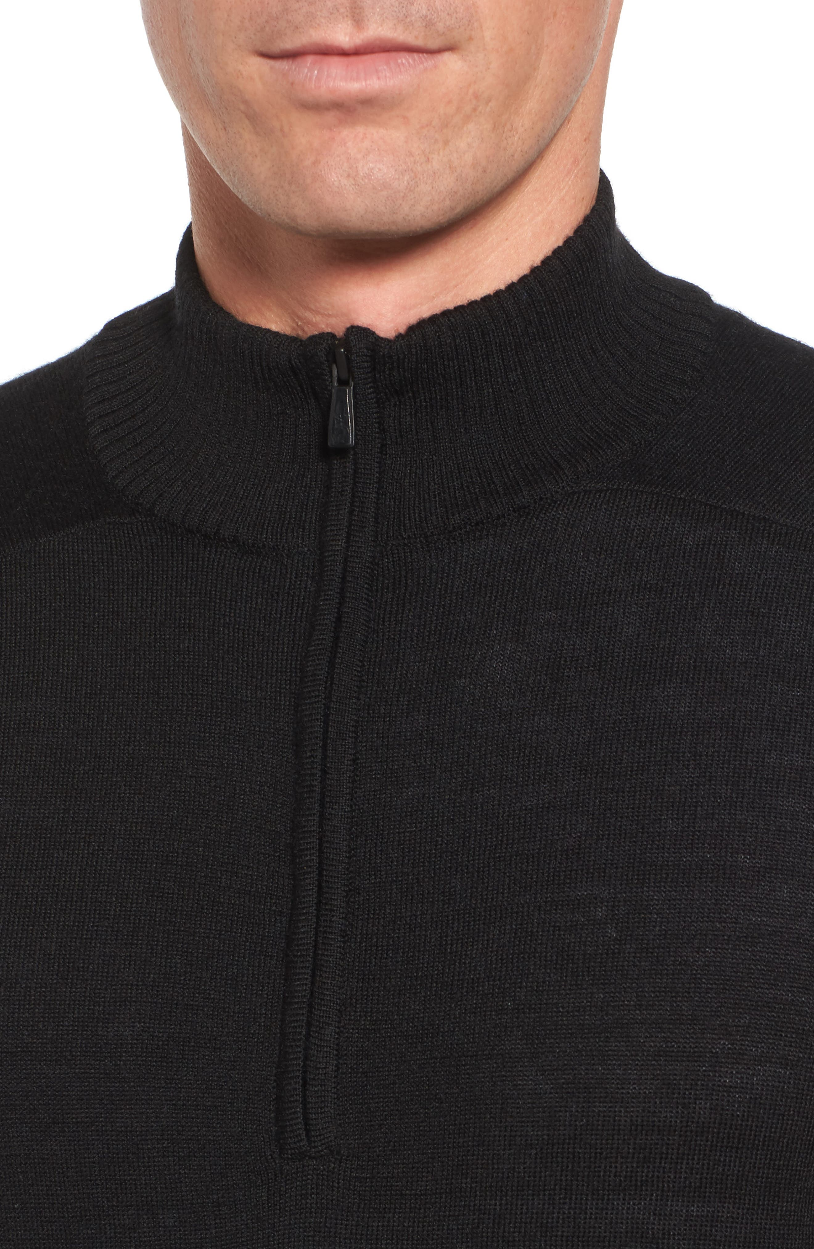 Kiva Ridge Merino Wool Blend Pullover,                             Alternate thumbnail 4, color,                             Black