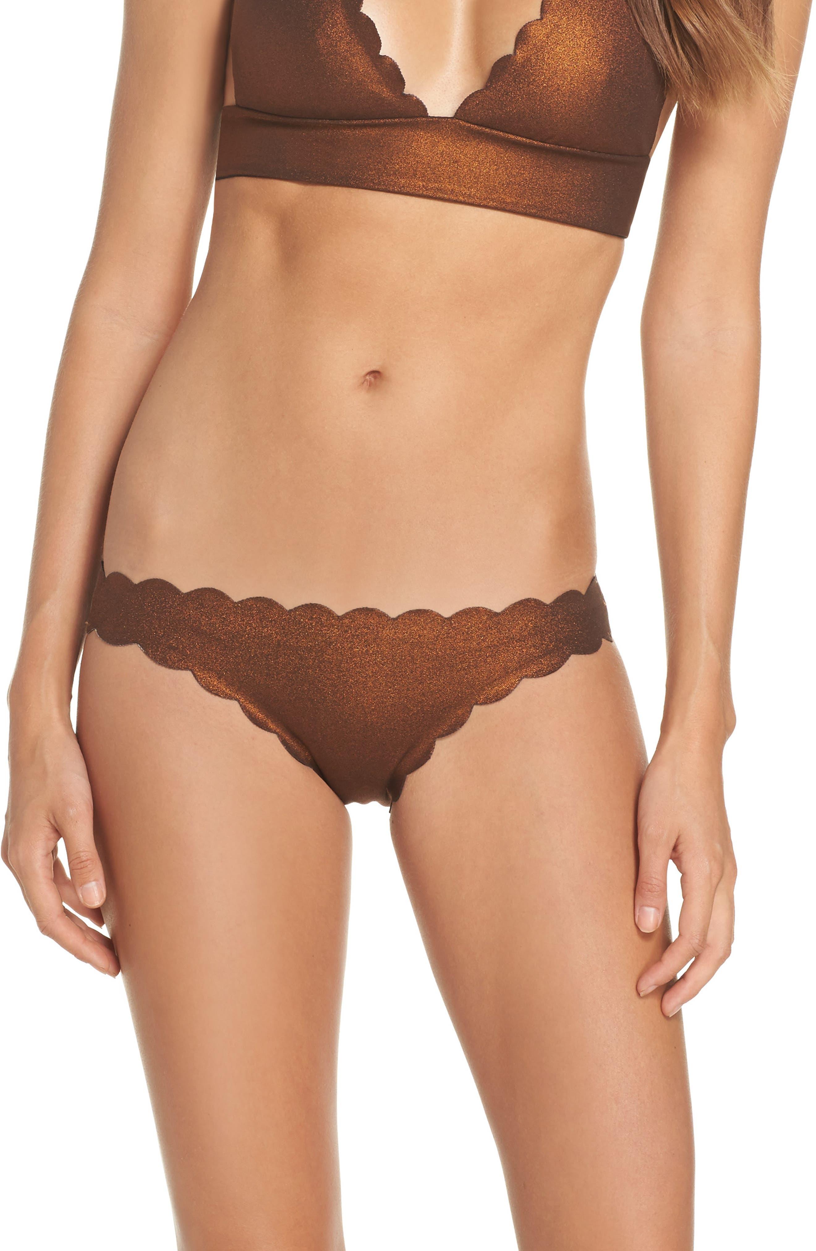 Wave Reversible Seamless Bikini Bottoms,                         Main,                         color, Copper
