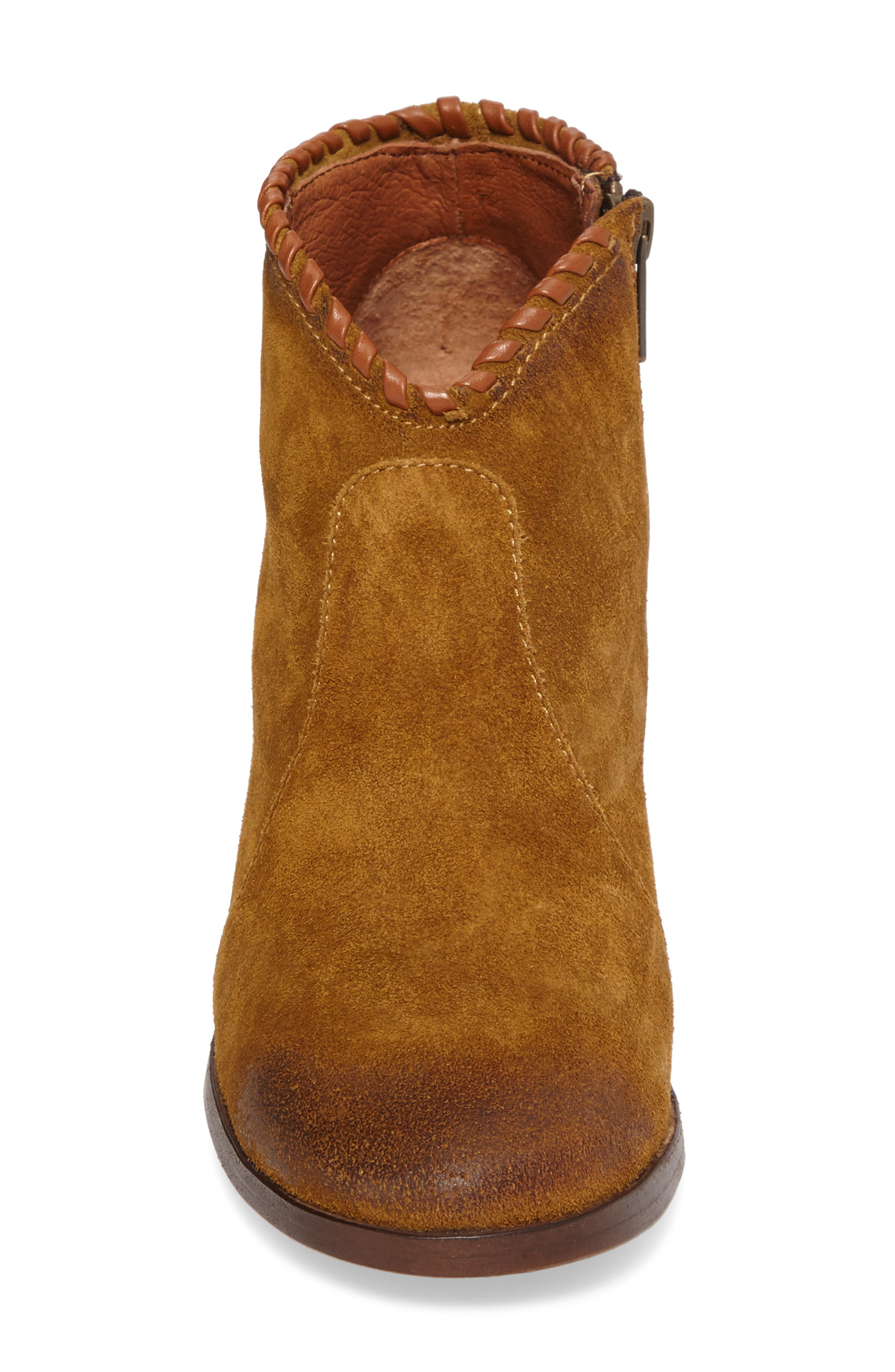 Nora Whipstitch Bootie,                             Alternate thumbnail 4, color,                             Wheat