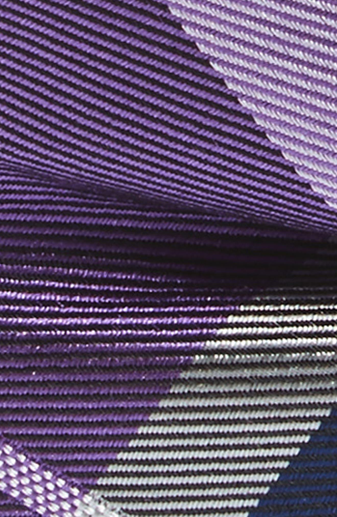 Plaid Silk Bow Tie,                             Alternate thumbnail 2, color,                             Purple