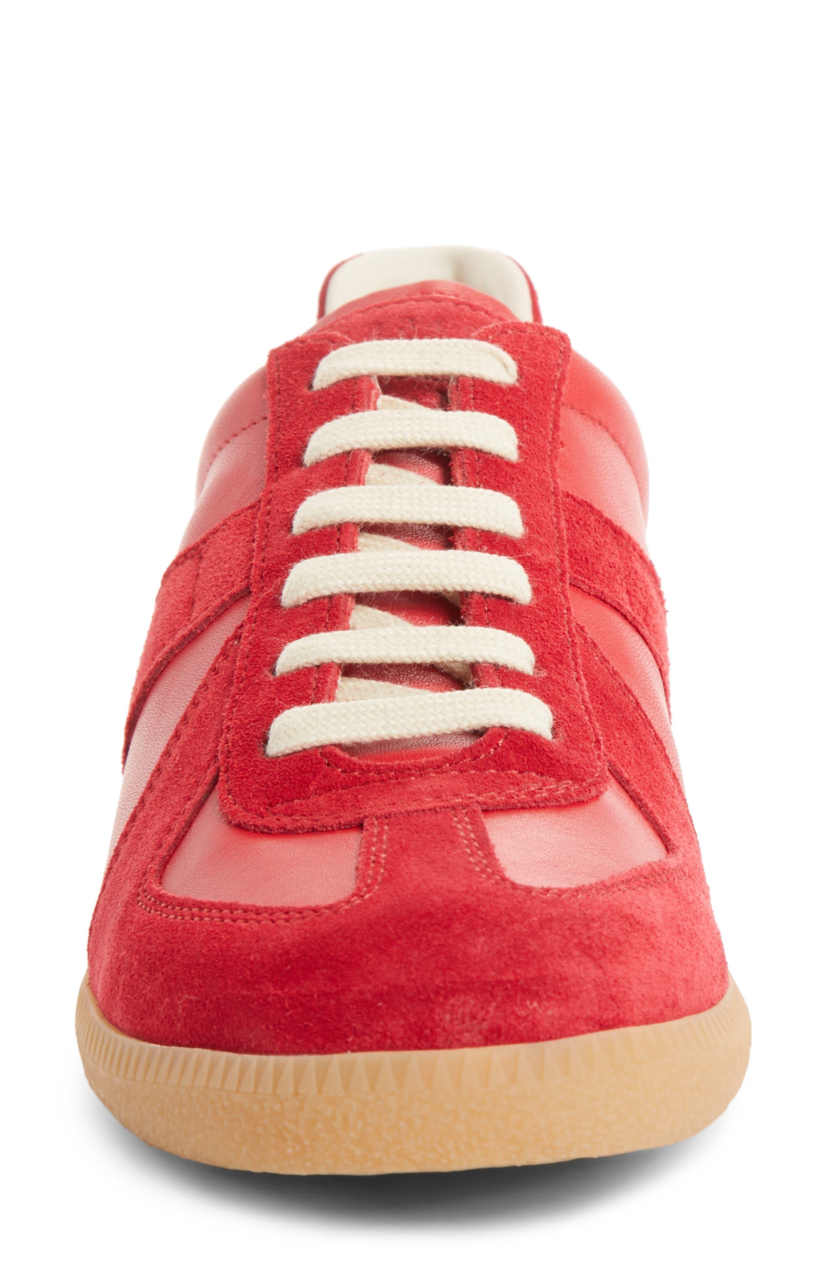 Replica Sneaker,                             Alternate thumbnail 4, color,                             Red/Amber