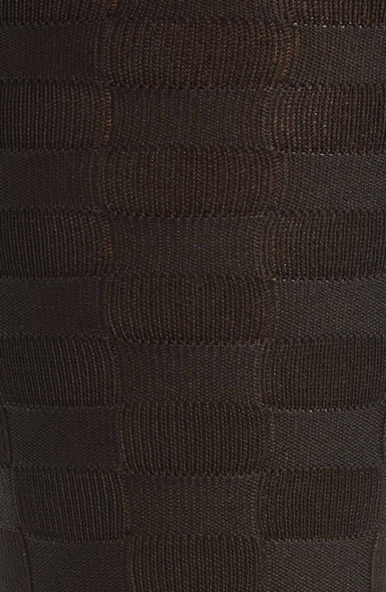 Grid Socks,                             Alternate thumbnail 2, color,                             Black