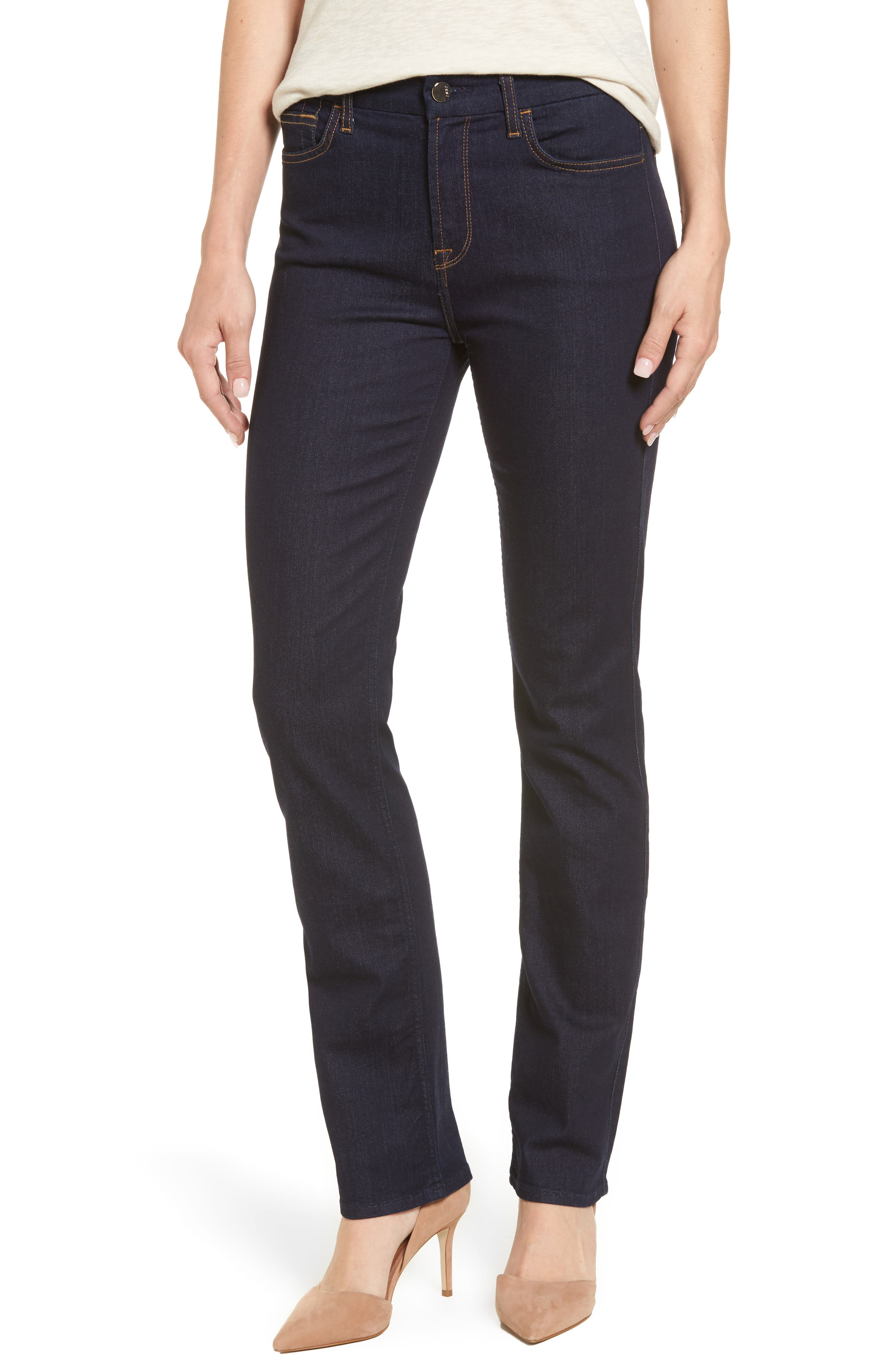 Stretch Slim Straight Leg Jeans,                             Main thumbnail 1, color,                             Riche Touch Rinsed Night