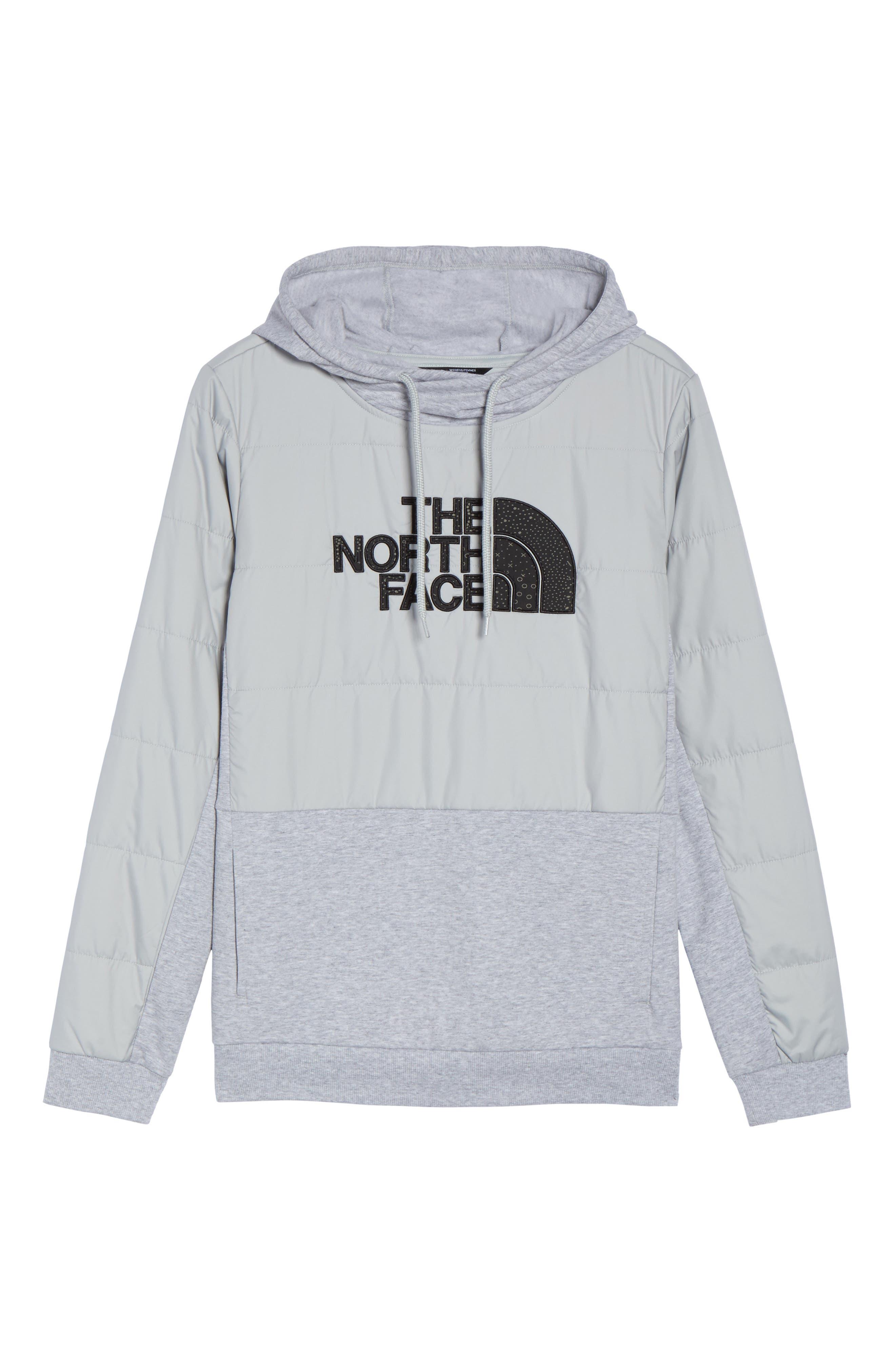 Reflective Logo Hoodie,                             Alternate thumbnail 6, color,                             Tnf Black/ Grey Htr/ Black