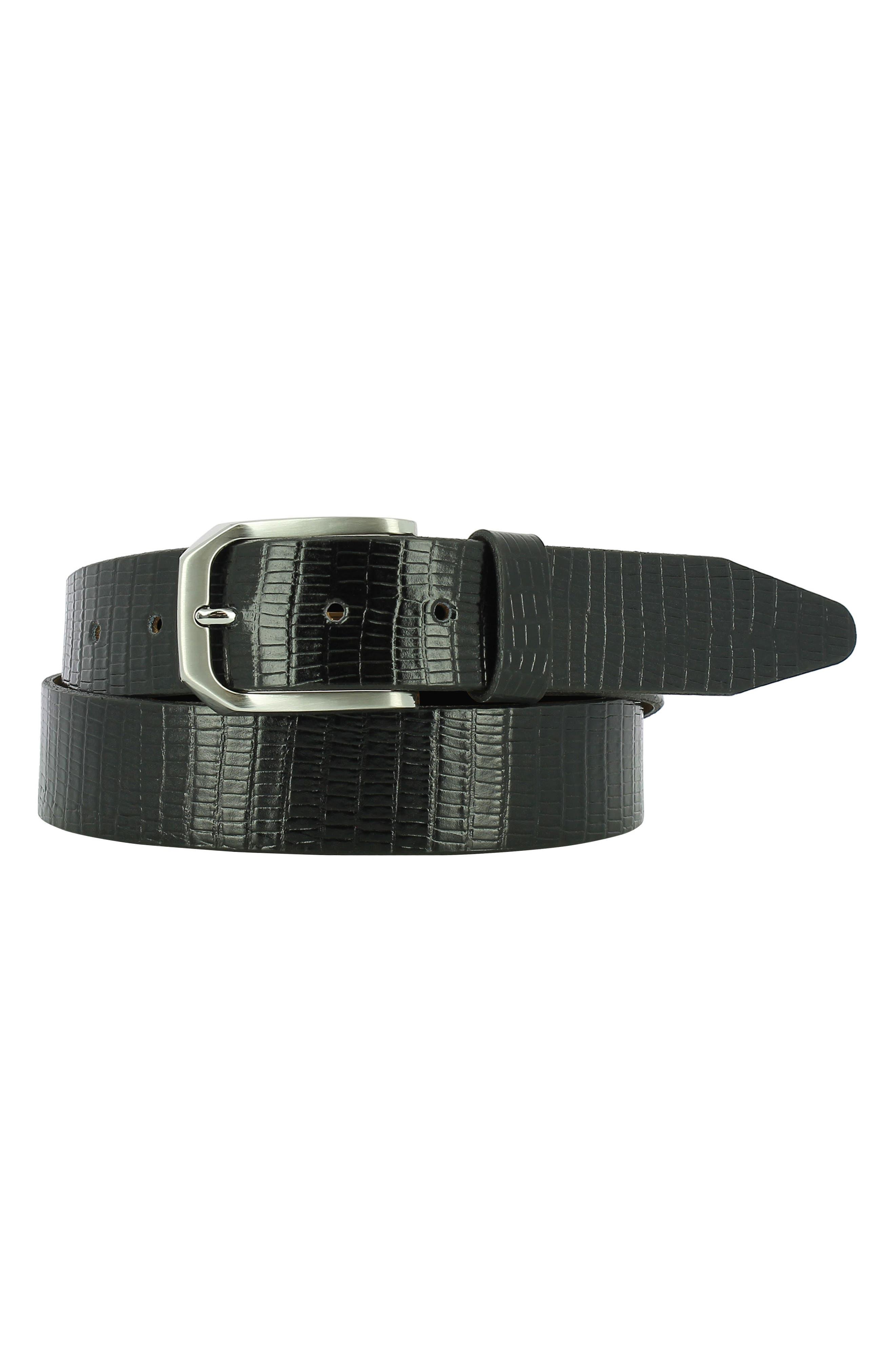 Edward Leather Belt,                         Main,                         color, Black