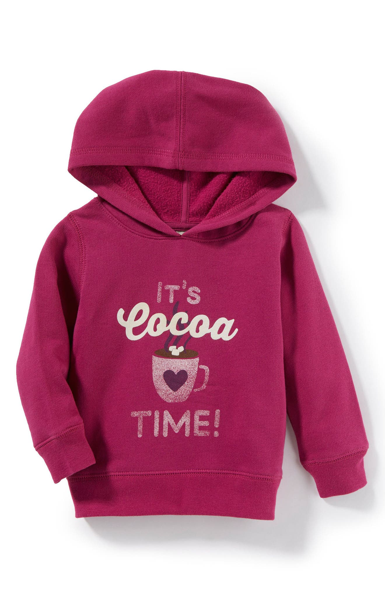 It's Cocoa Time Graphic Hoodie,                             Main thumbnail 1, color,                             Fuchsia