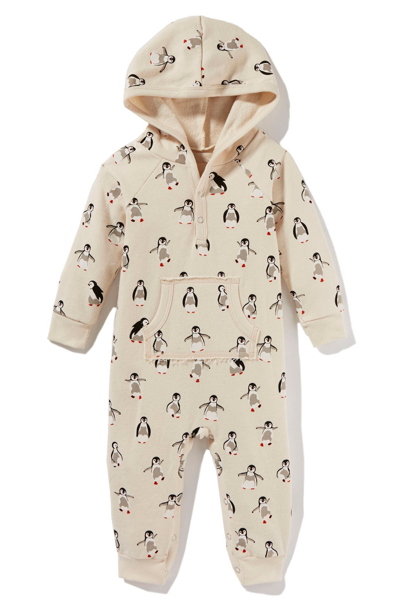 Peek Penguin Hooded Romper (Baby)