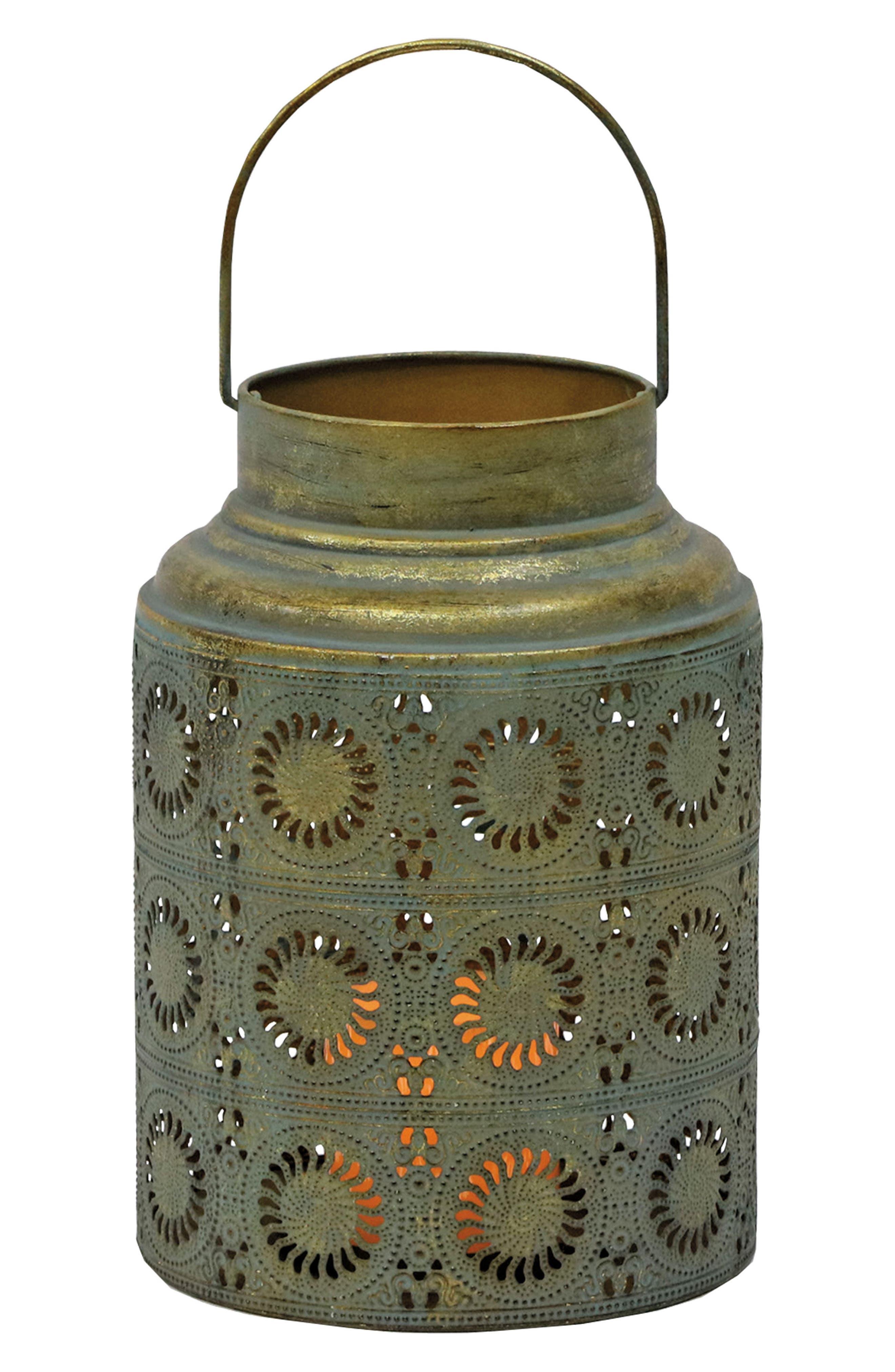 Scrollwork Lantern,                         Main,                         color, Metal 2